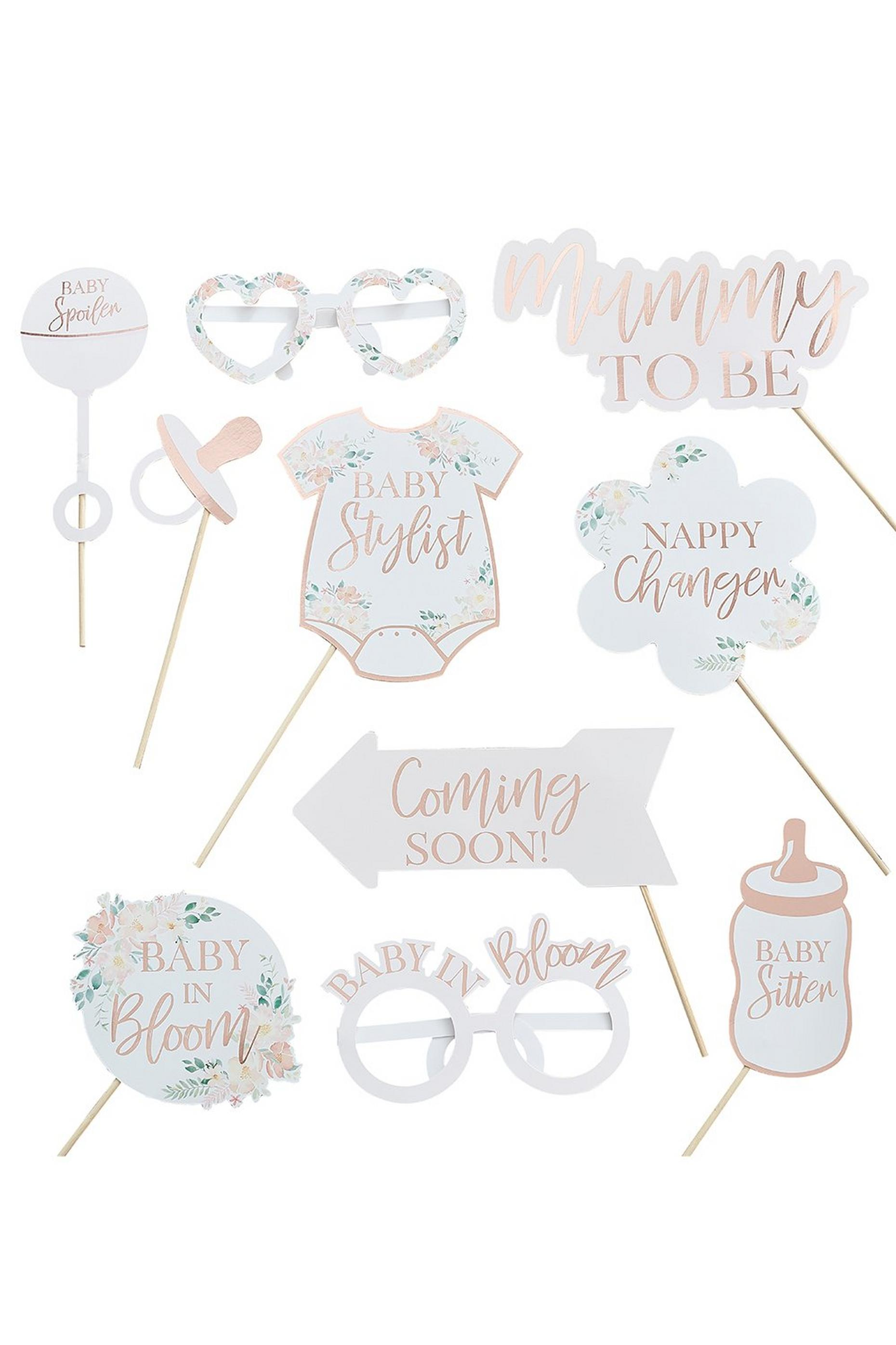 Ginger Ray Rose Gold Baby Shower Props