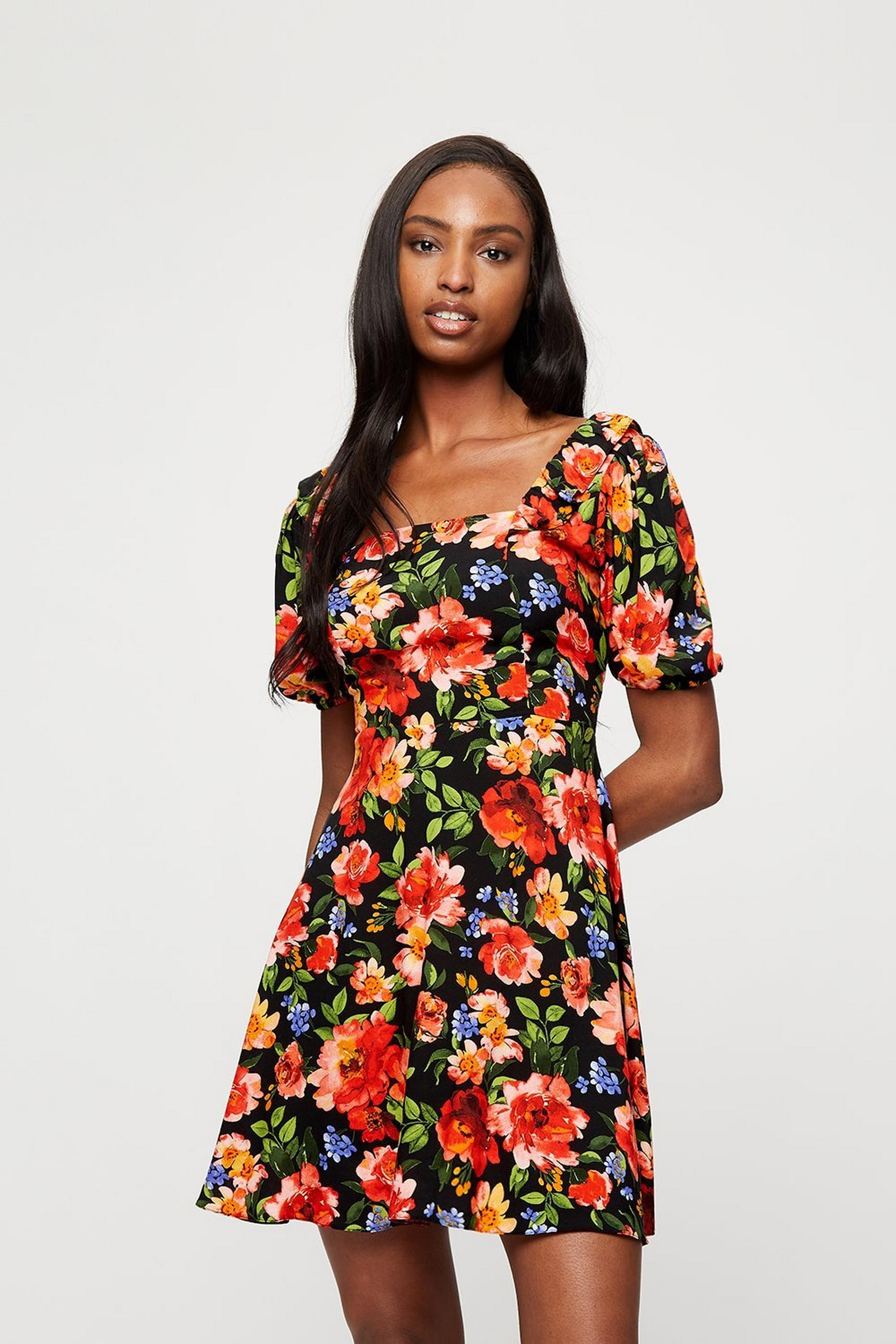 Bright Floral Mini Dress