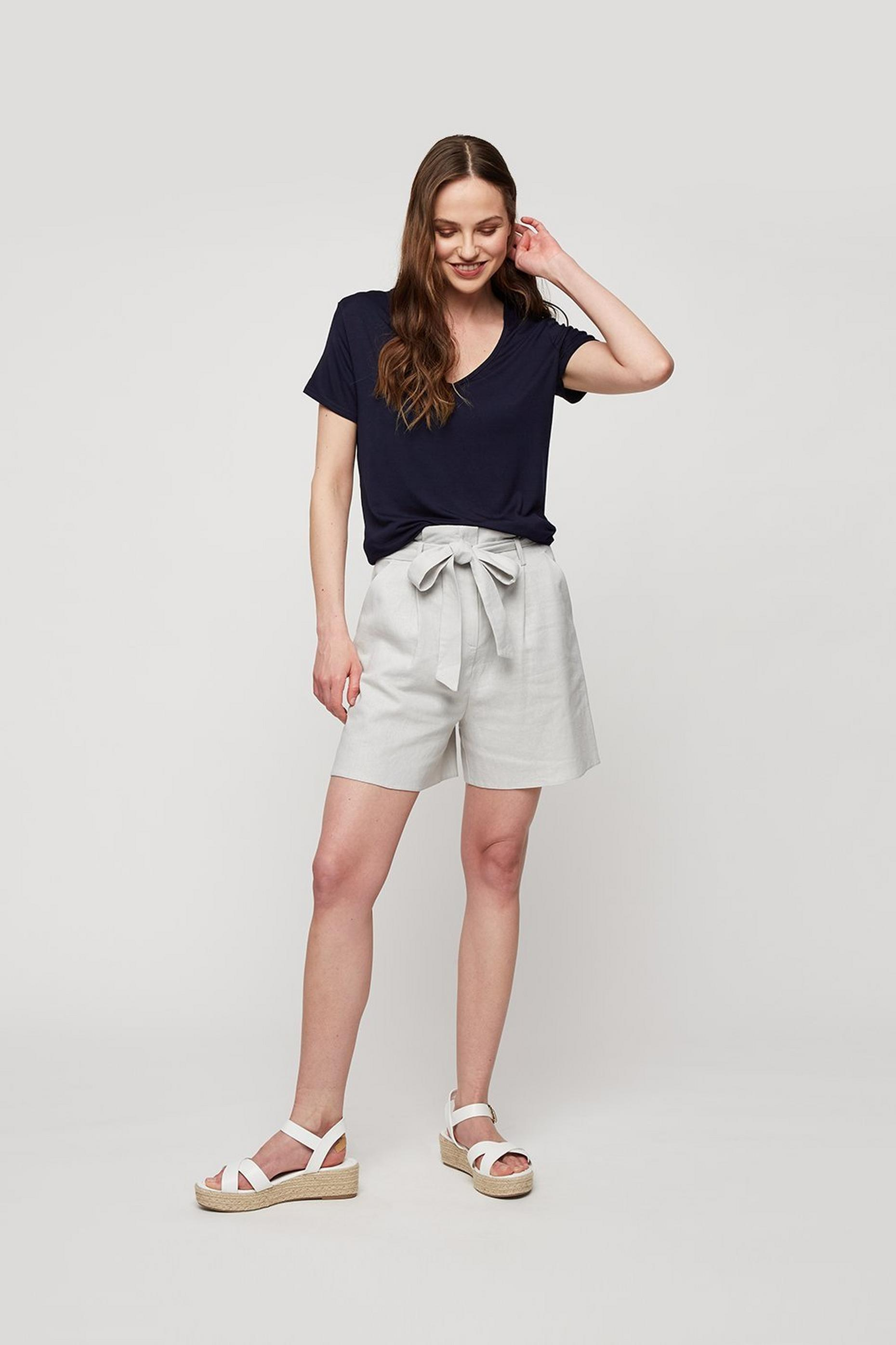 Navy V Neck Relaxed Tee
