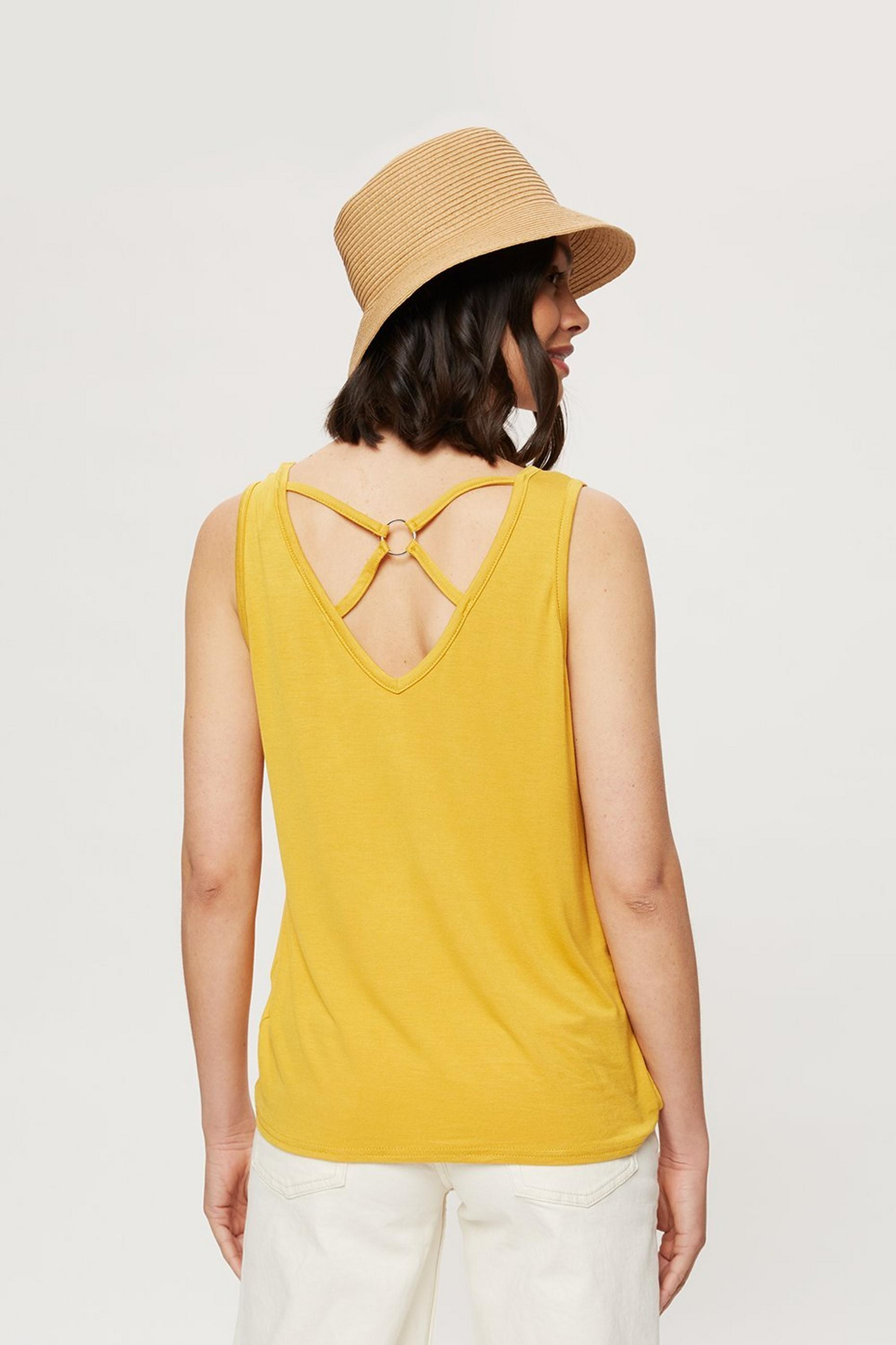 Ochre Ring Back Vest