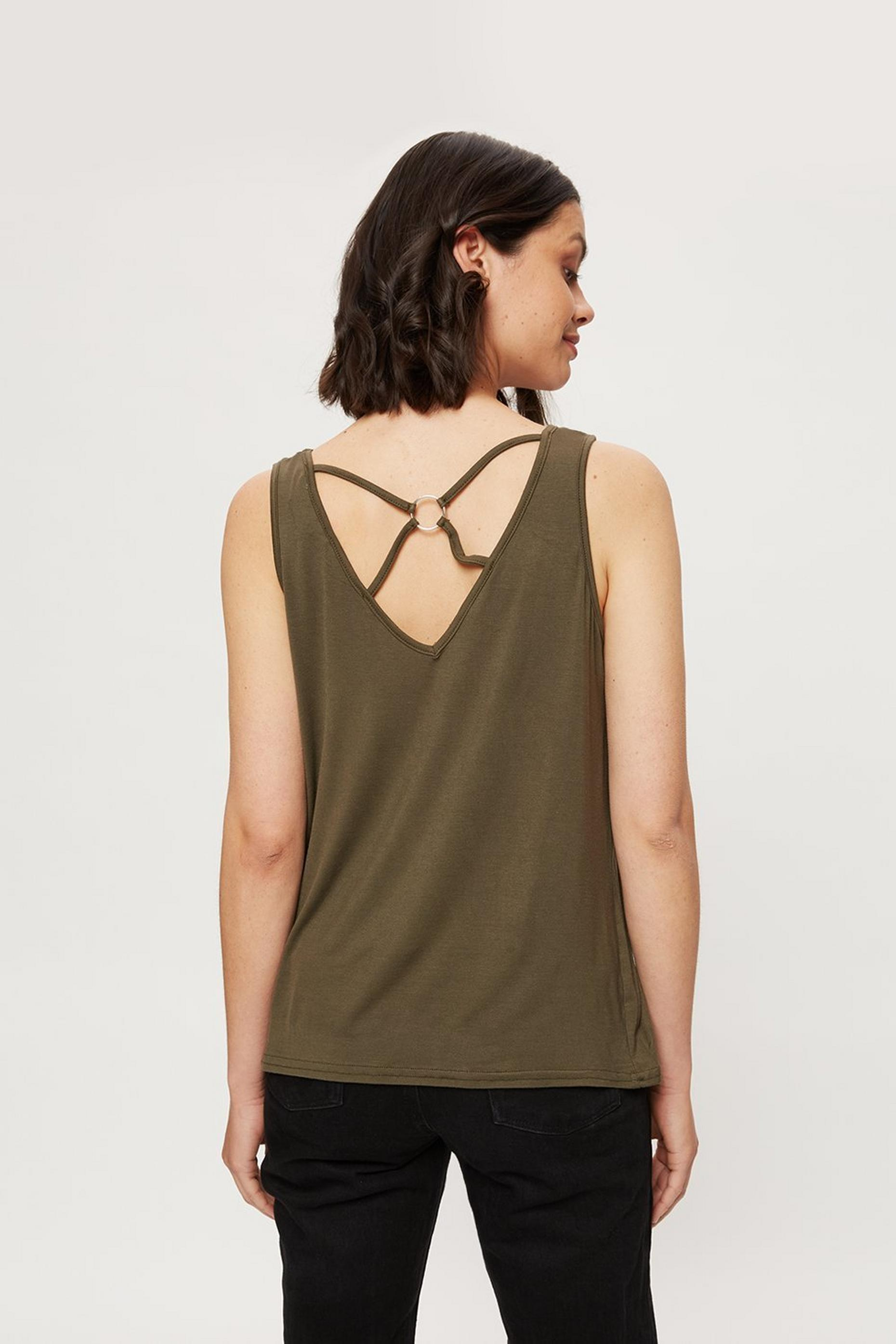 Khaki Ring Back Vest