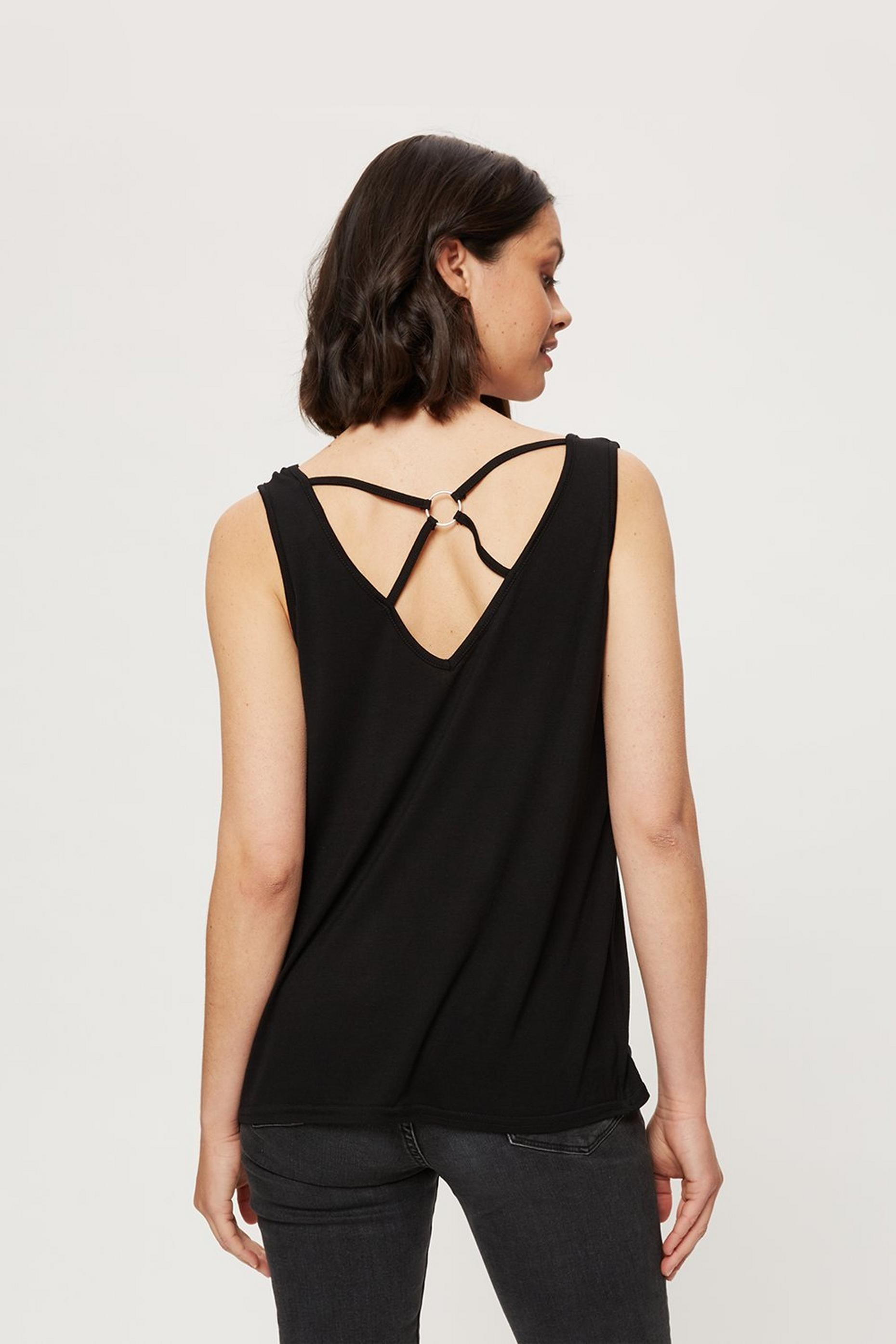 Black Ring Back Vest
