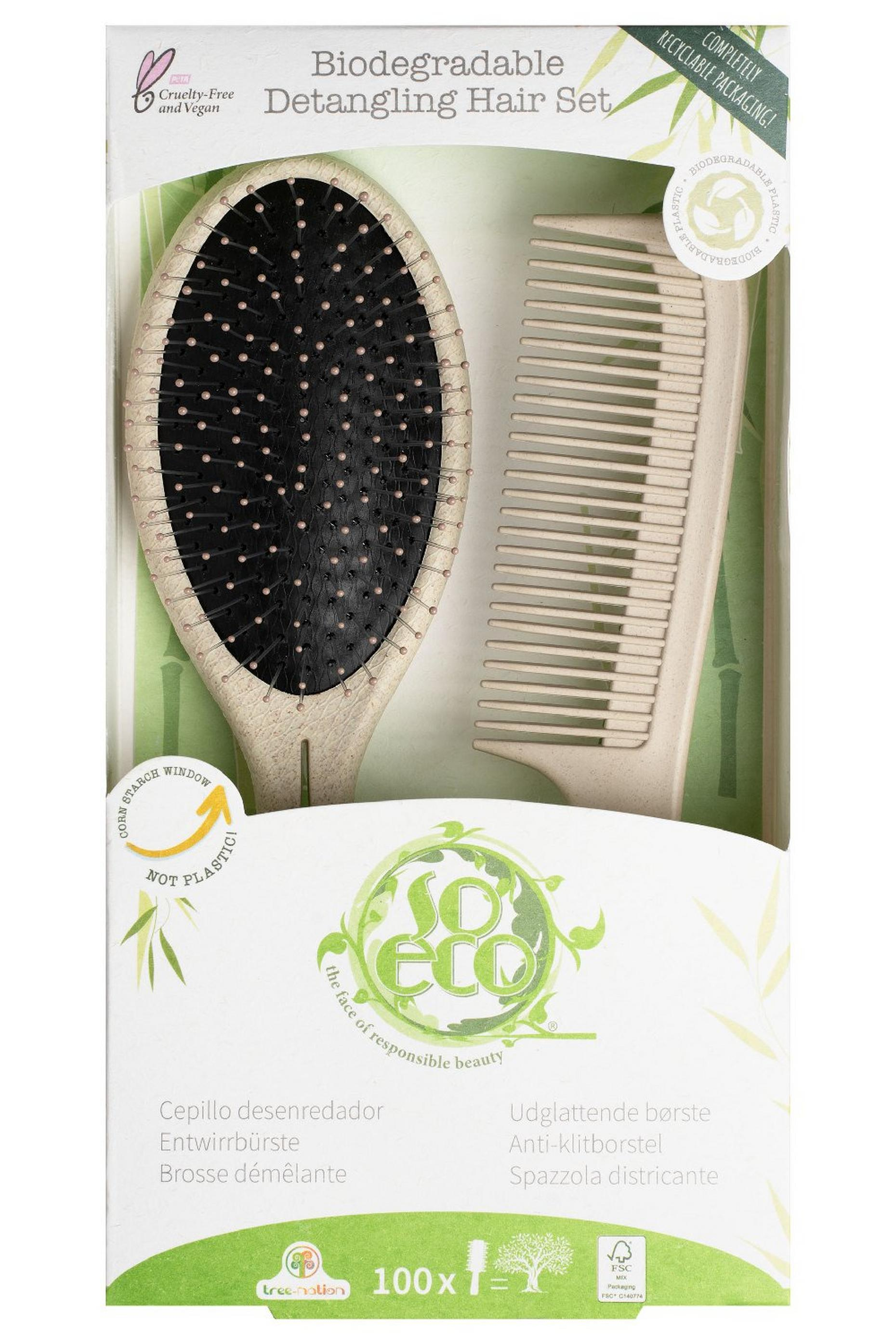 So Eco Biodegradable Detangling Hair Set