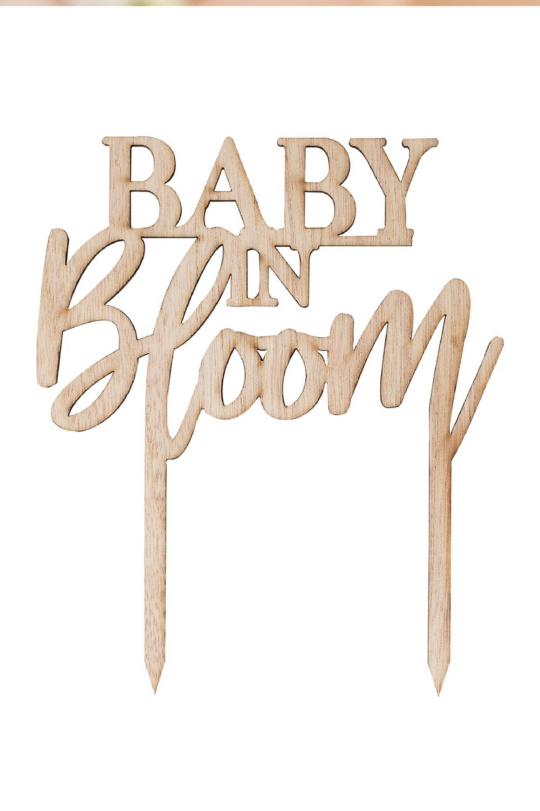 Ginger Ray Baby In Bloom Cake Topper