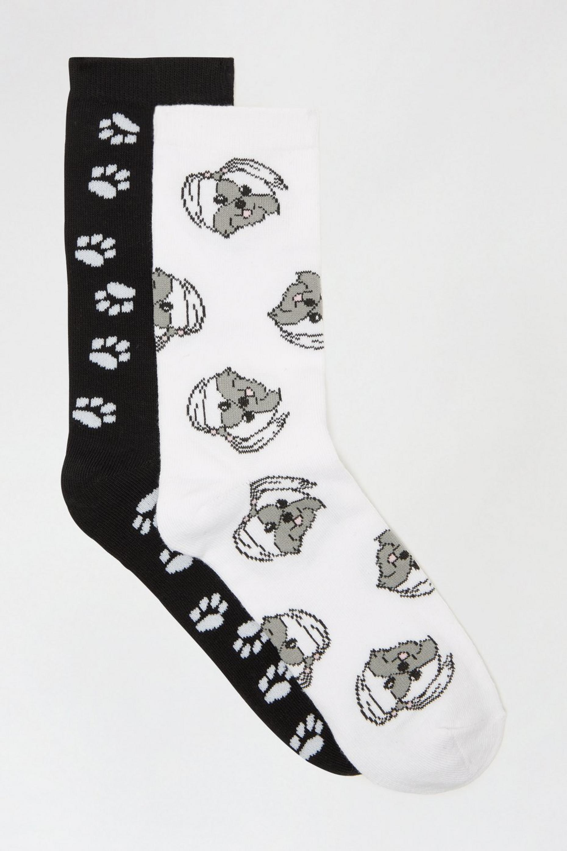 White Dog 2 Pack Ankle Socks