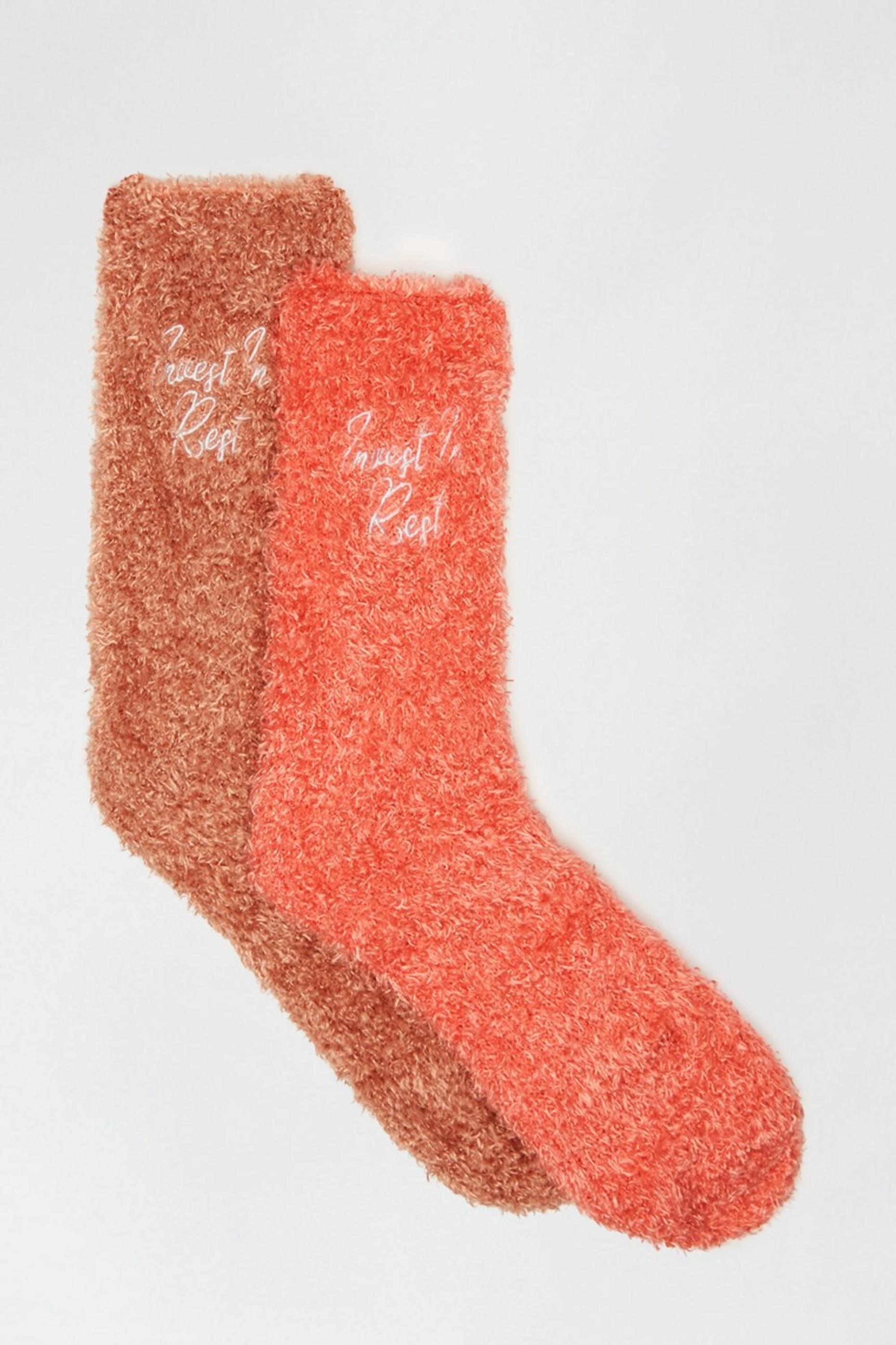 Blush Fluffy Ankle Socks
