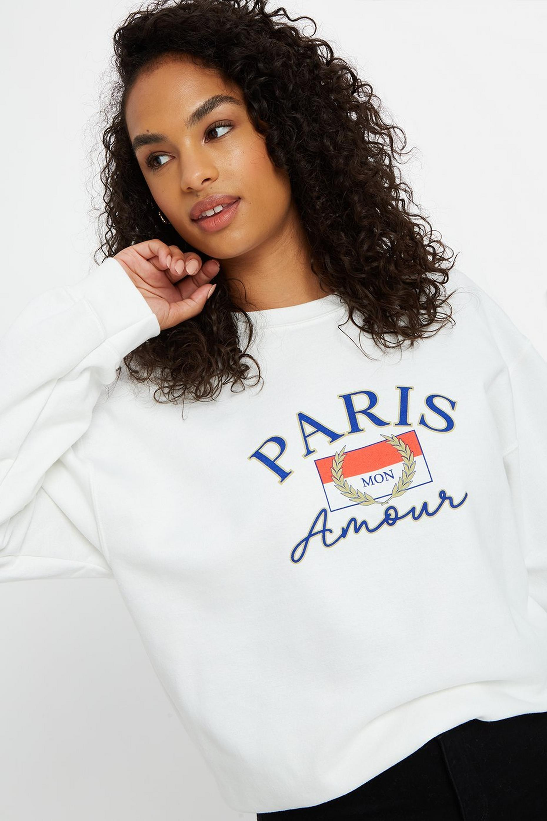 Paris Amour Slogan Sweatshirt