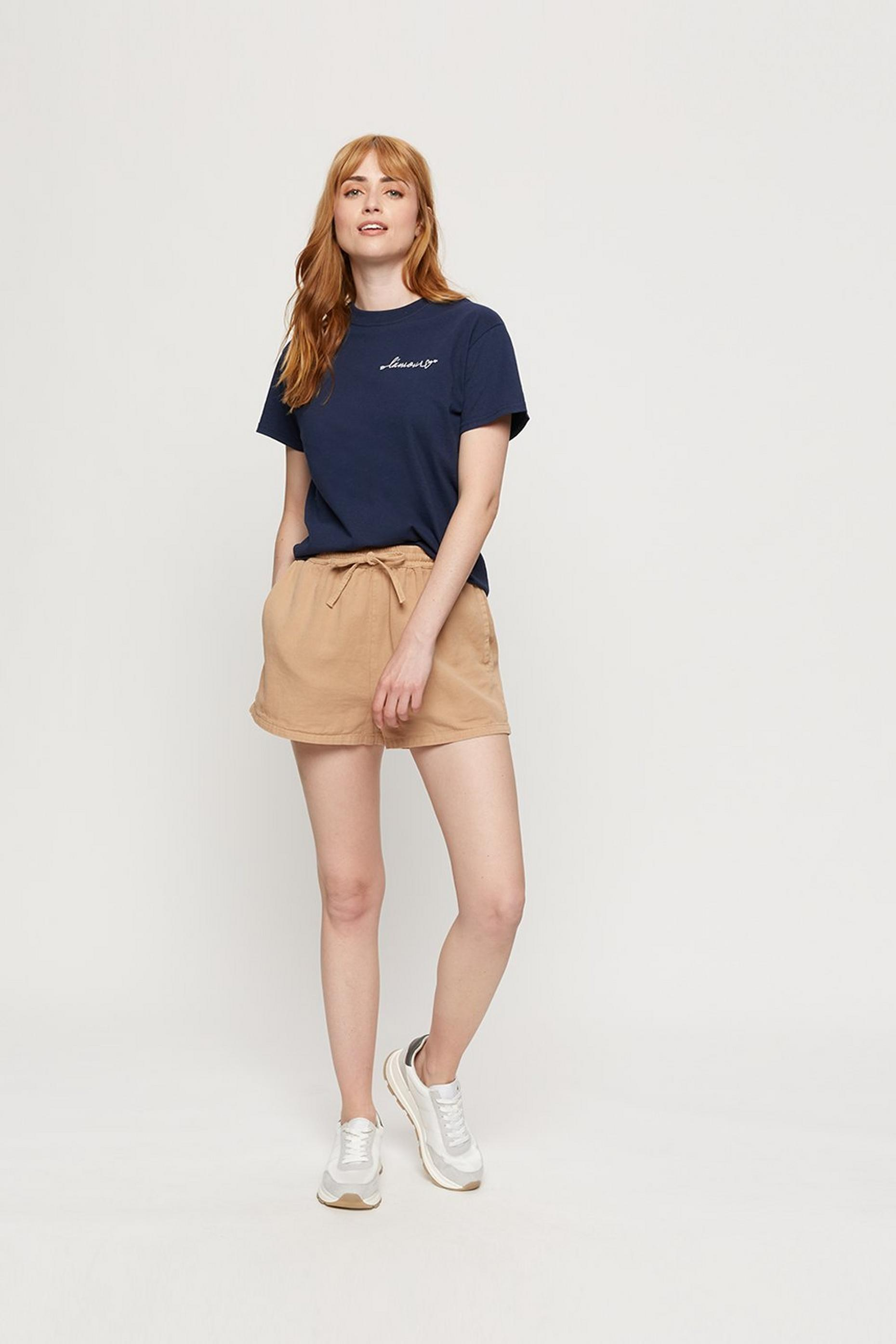 Navy L'amour Embroidered Logo T-shirt
