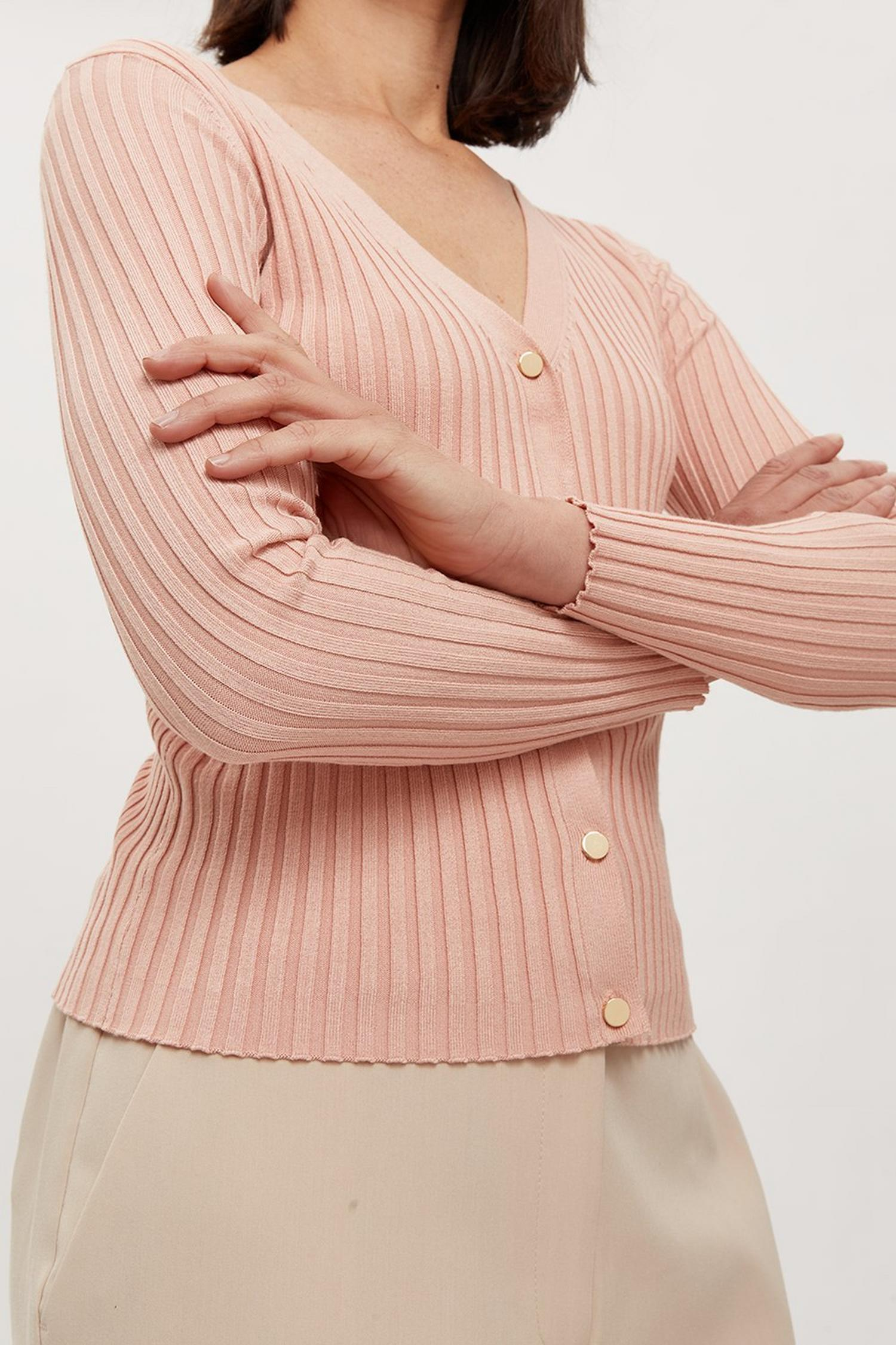 158 l V Neck Button Cardigan image number 4