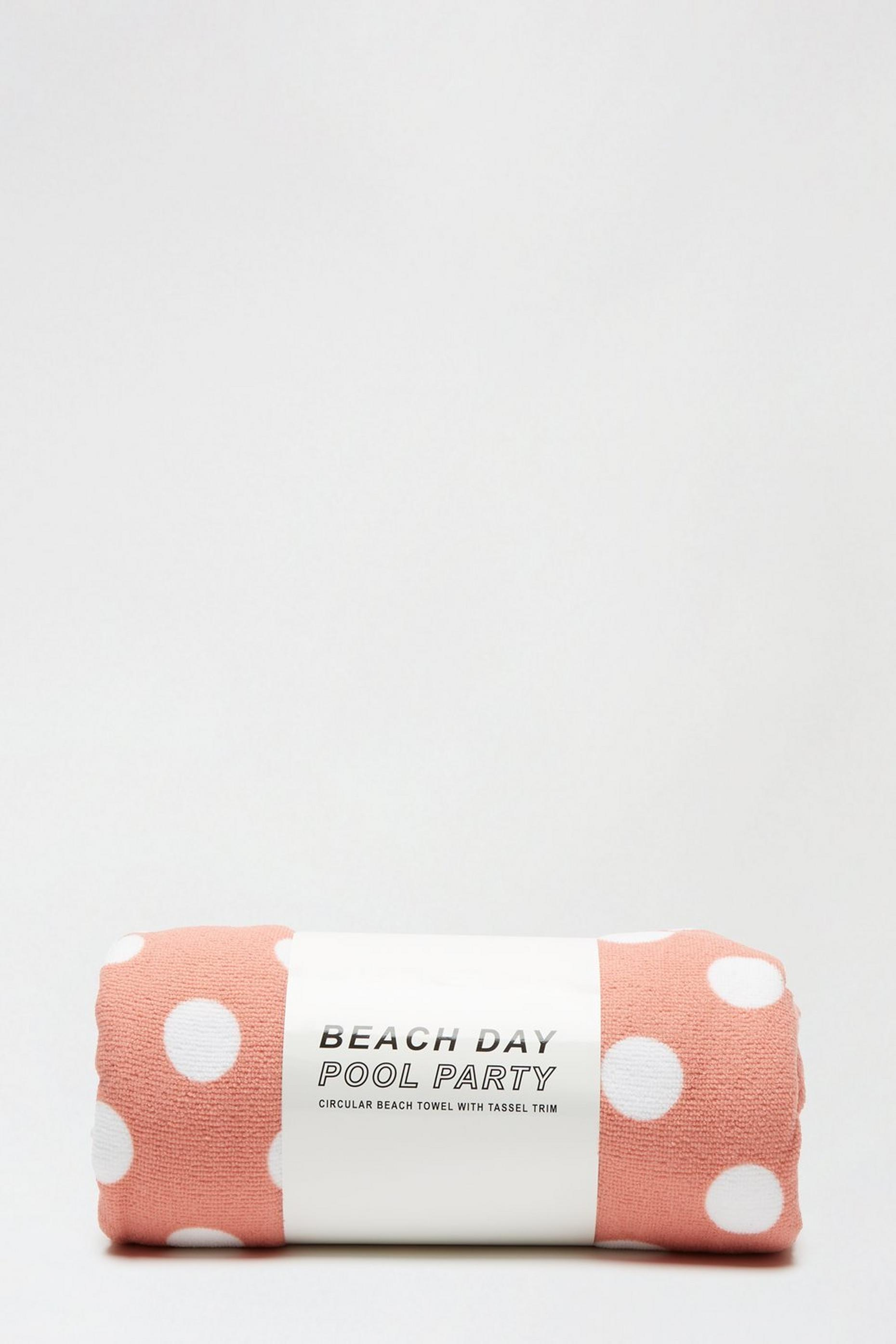 Mocha And White Spot Beach Towel