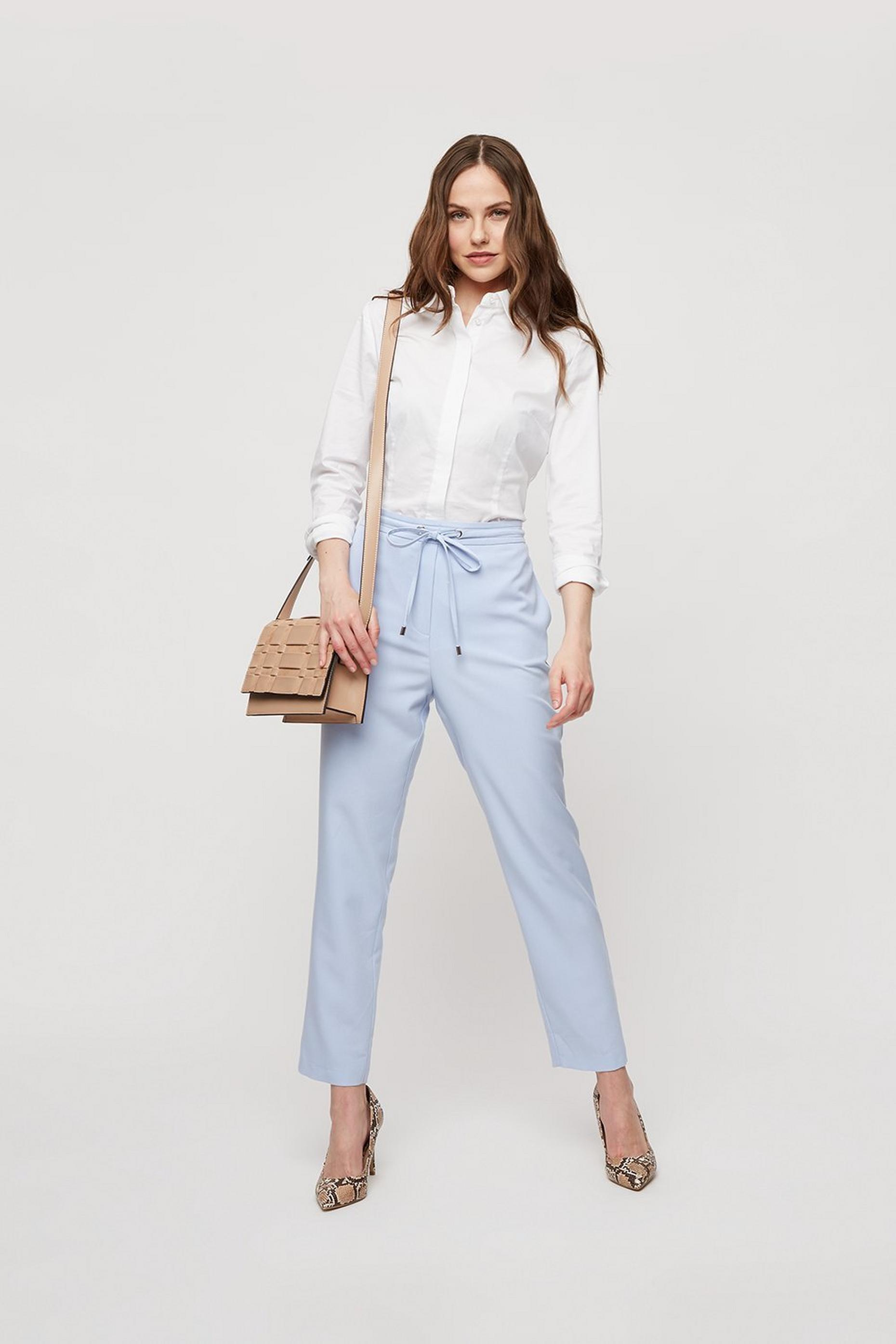 Tailored Tie Waist Trousers