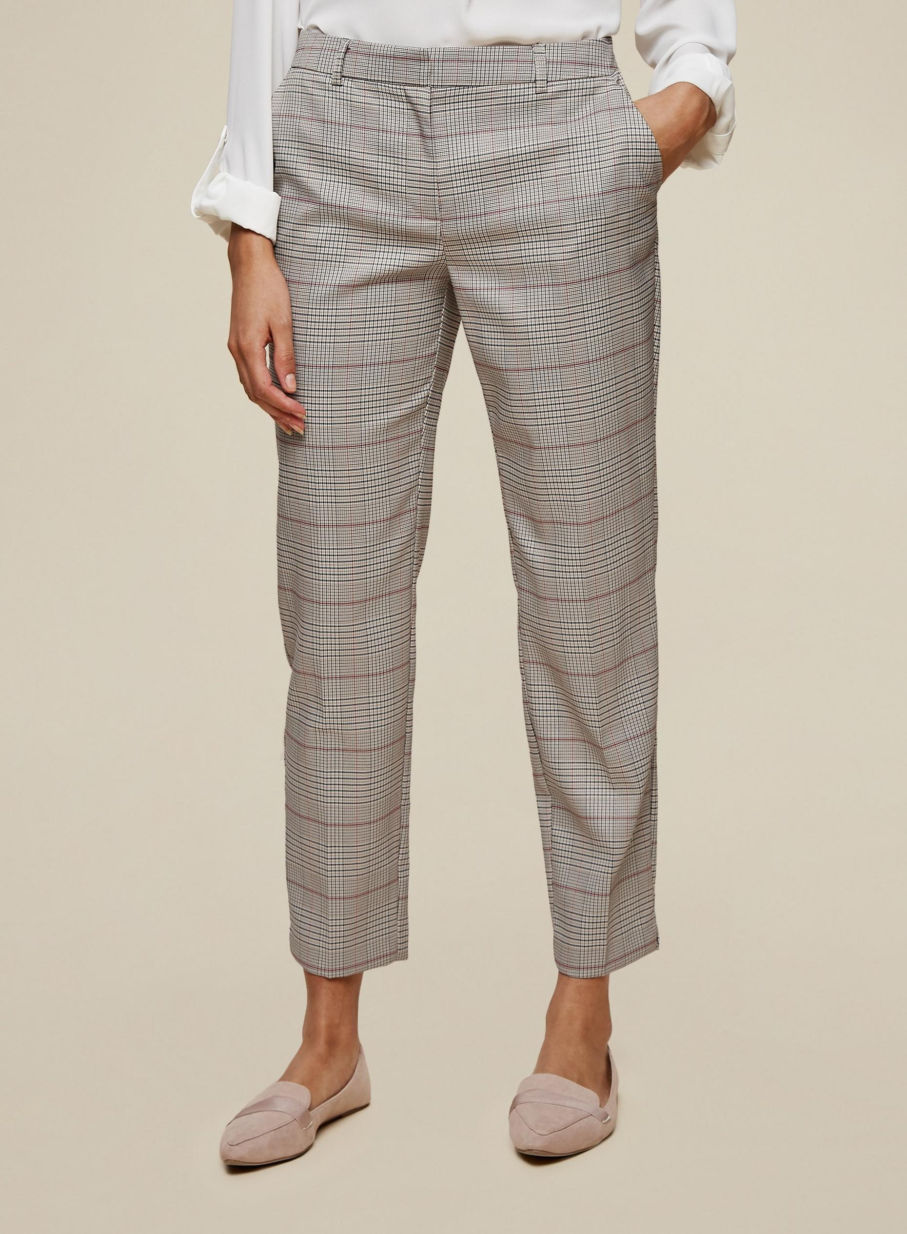 Tall Grey Checked Trousers