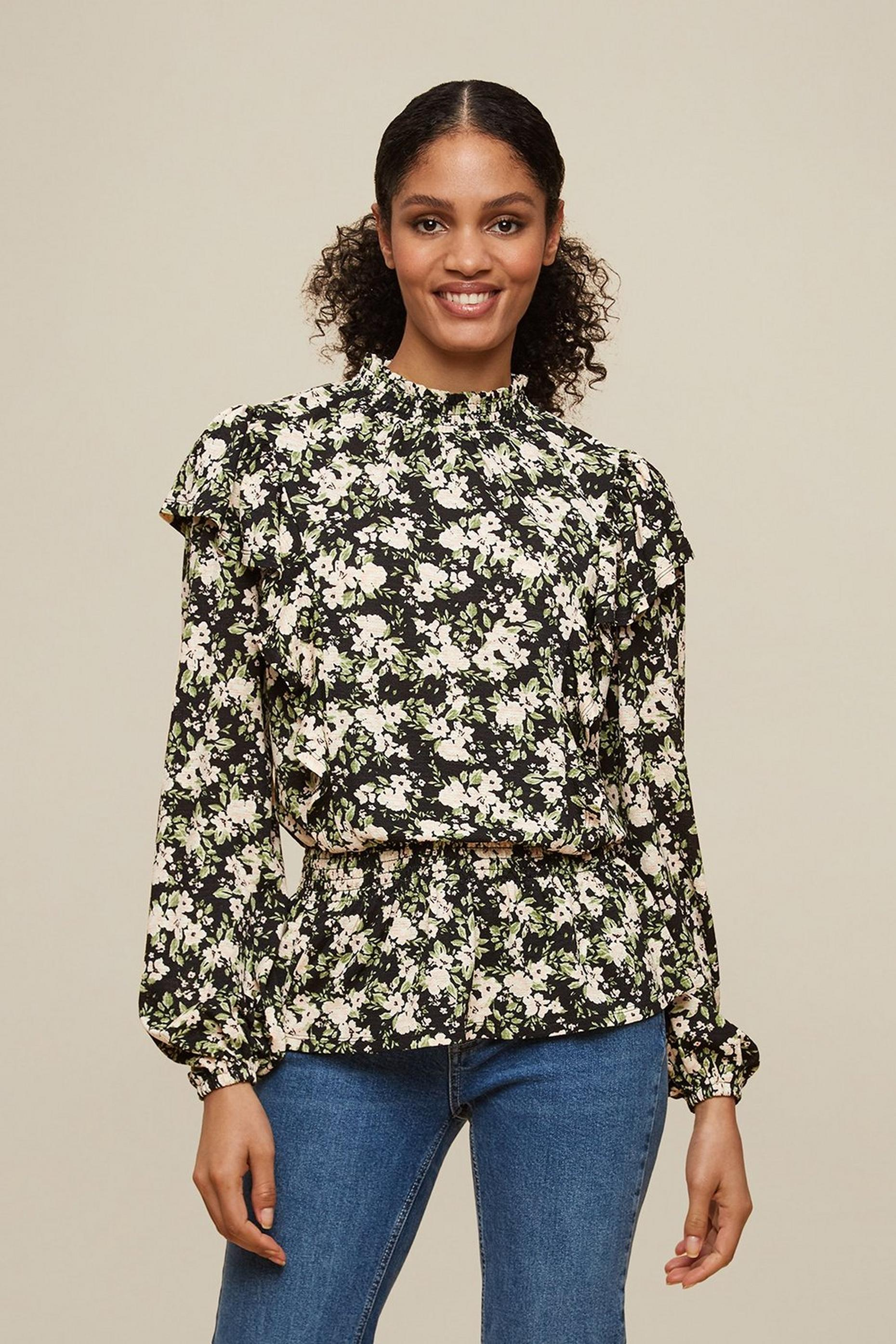 Tall Ditsy Ruffle Textured Top