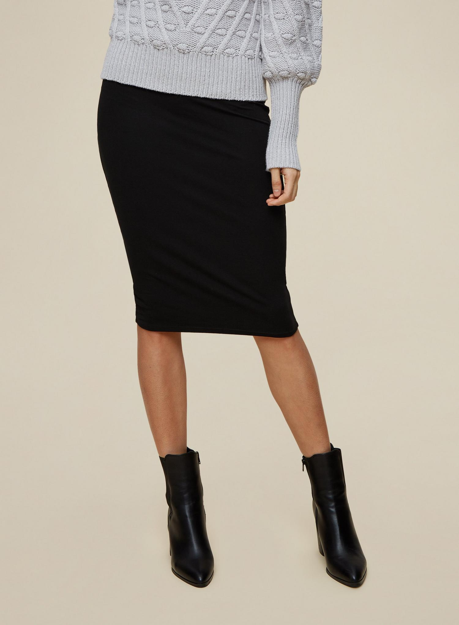 105 Tall Black Midi Skirt image number 1