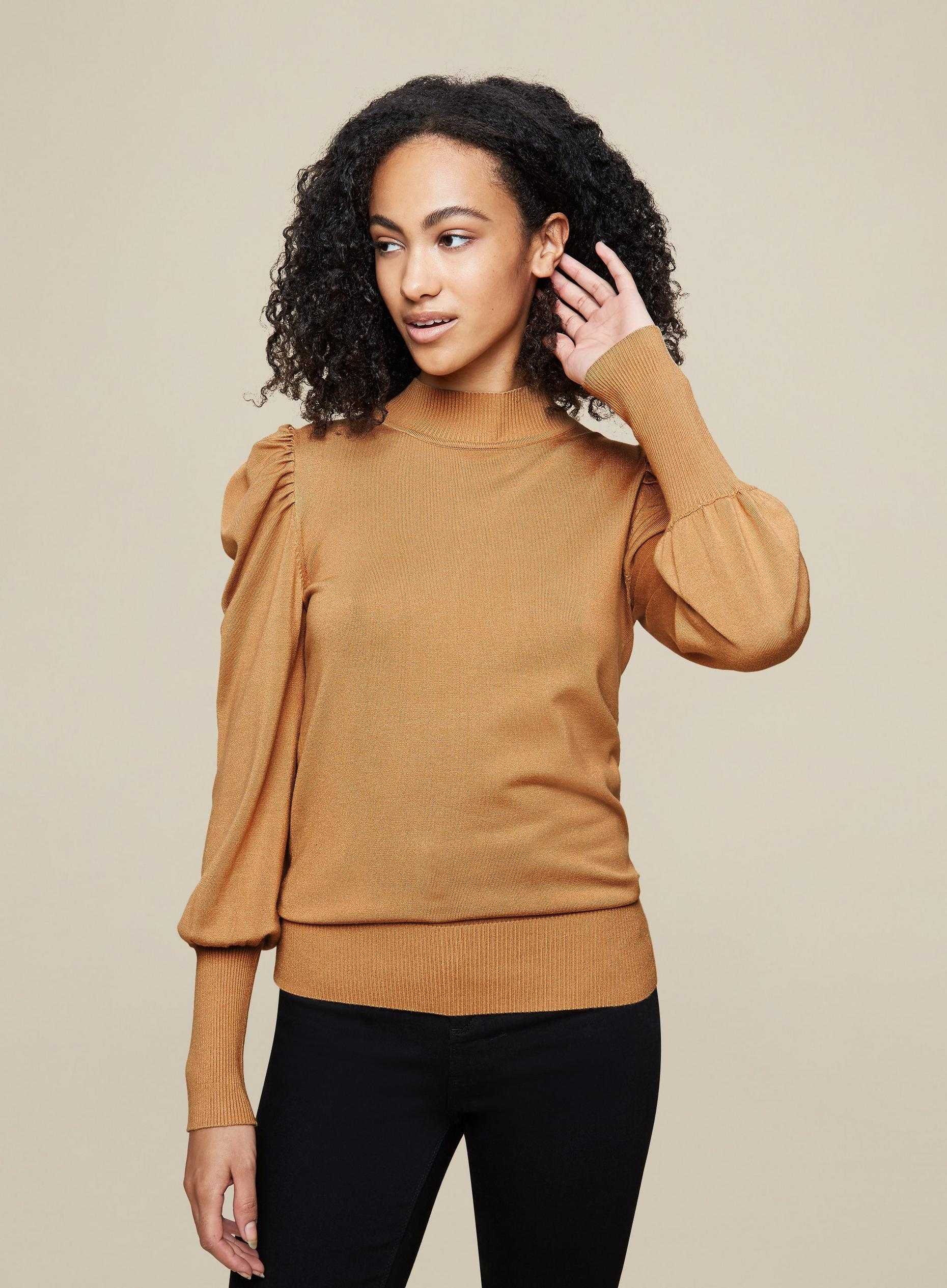 Tall Camel Knitted Jumper
