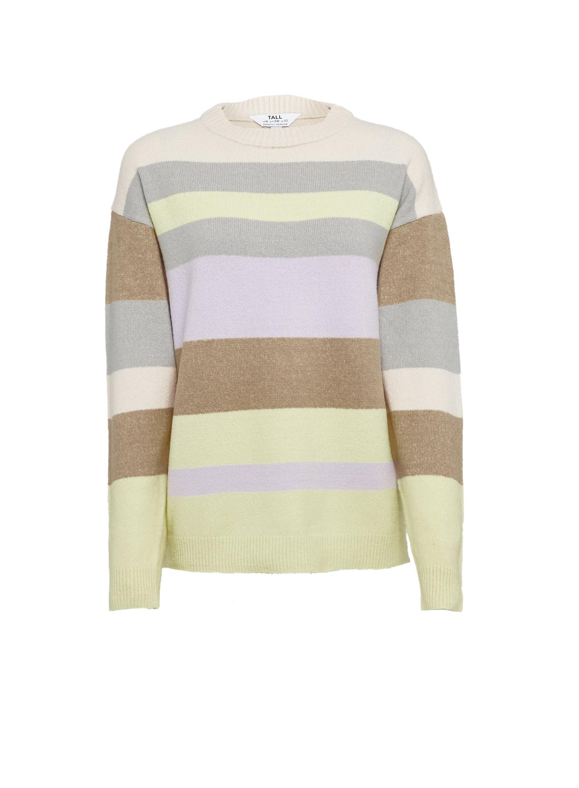 Tall Pastel Stripe Print Jumper