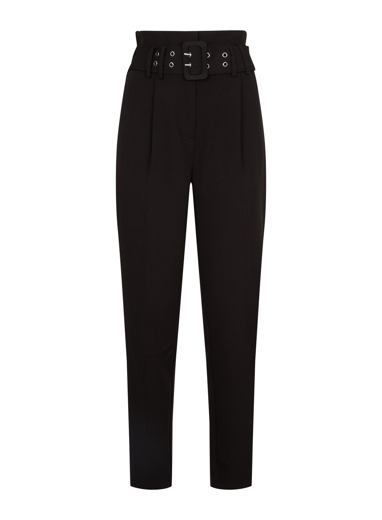 105 Tall Black Belted Trousers image number 2
