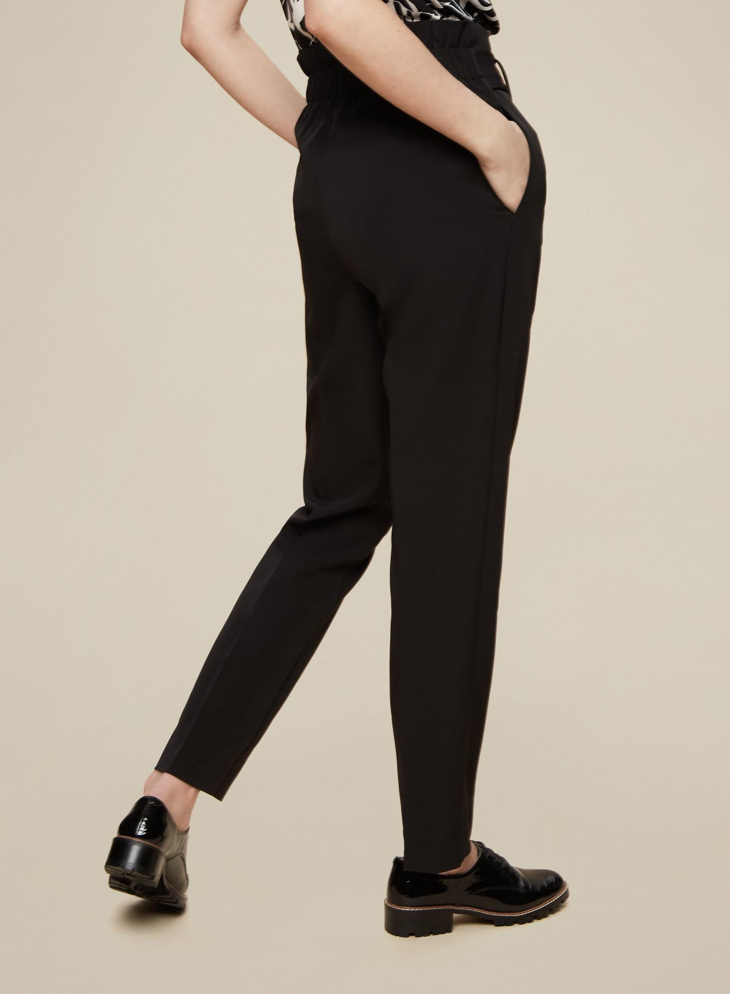 105 Tall Black Belted Trousers image number 4
