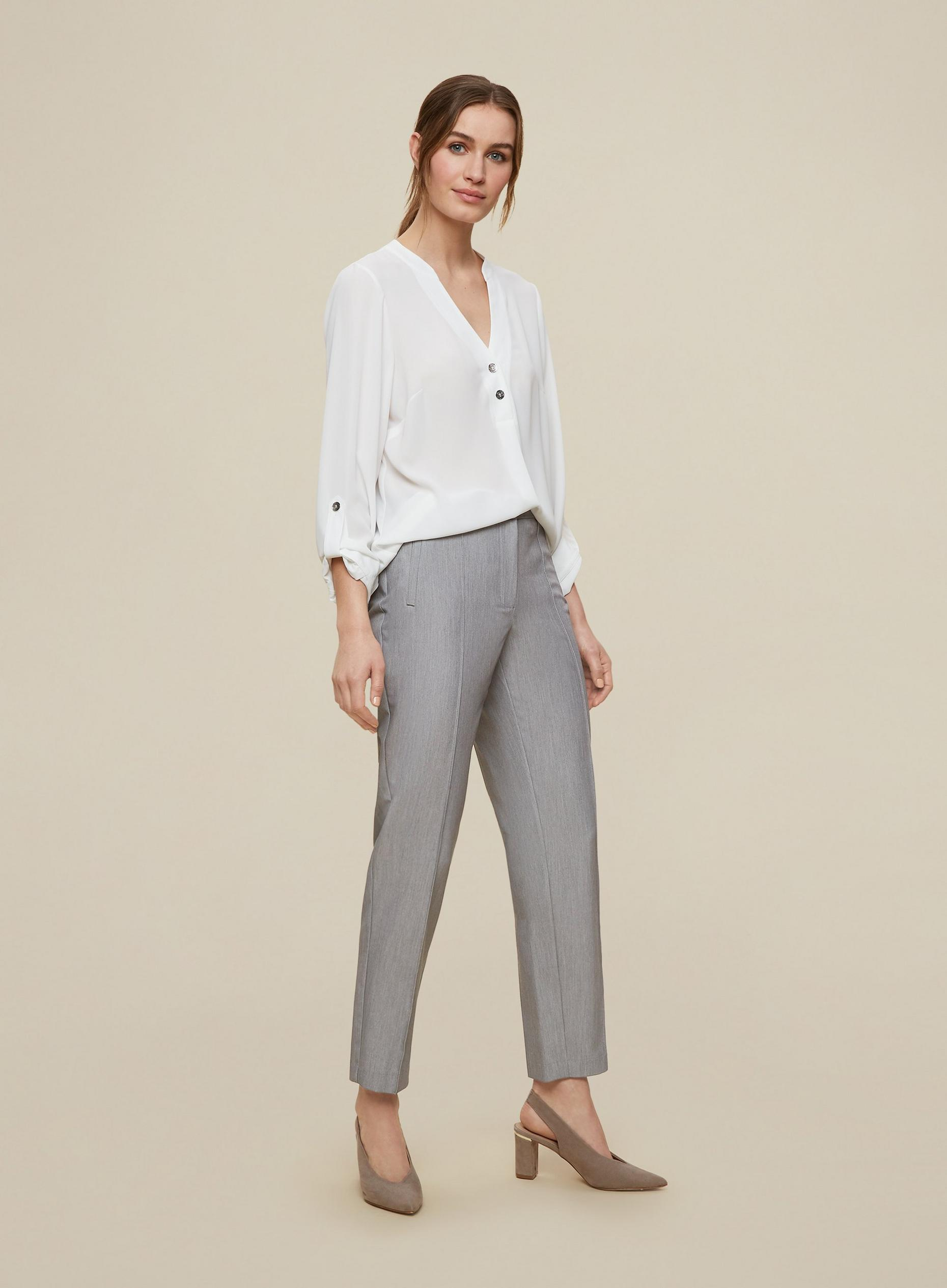 Tall Grey Tailored Trousers