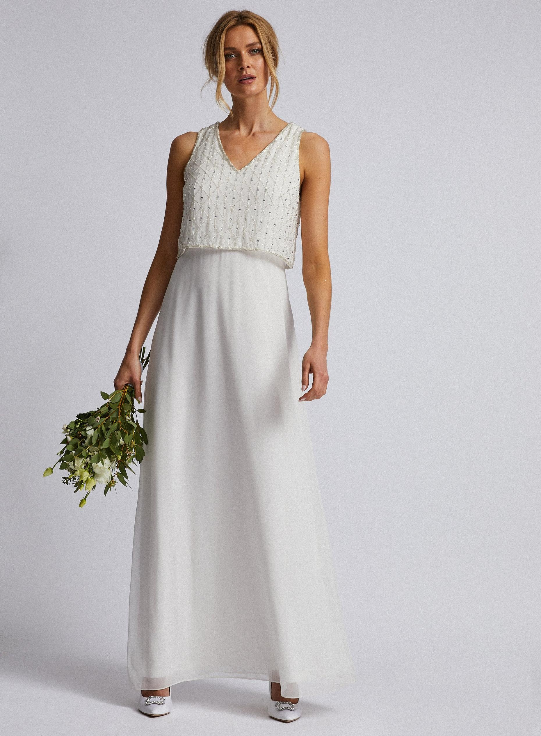 Off White Bridal Graclyn Maxi Dress