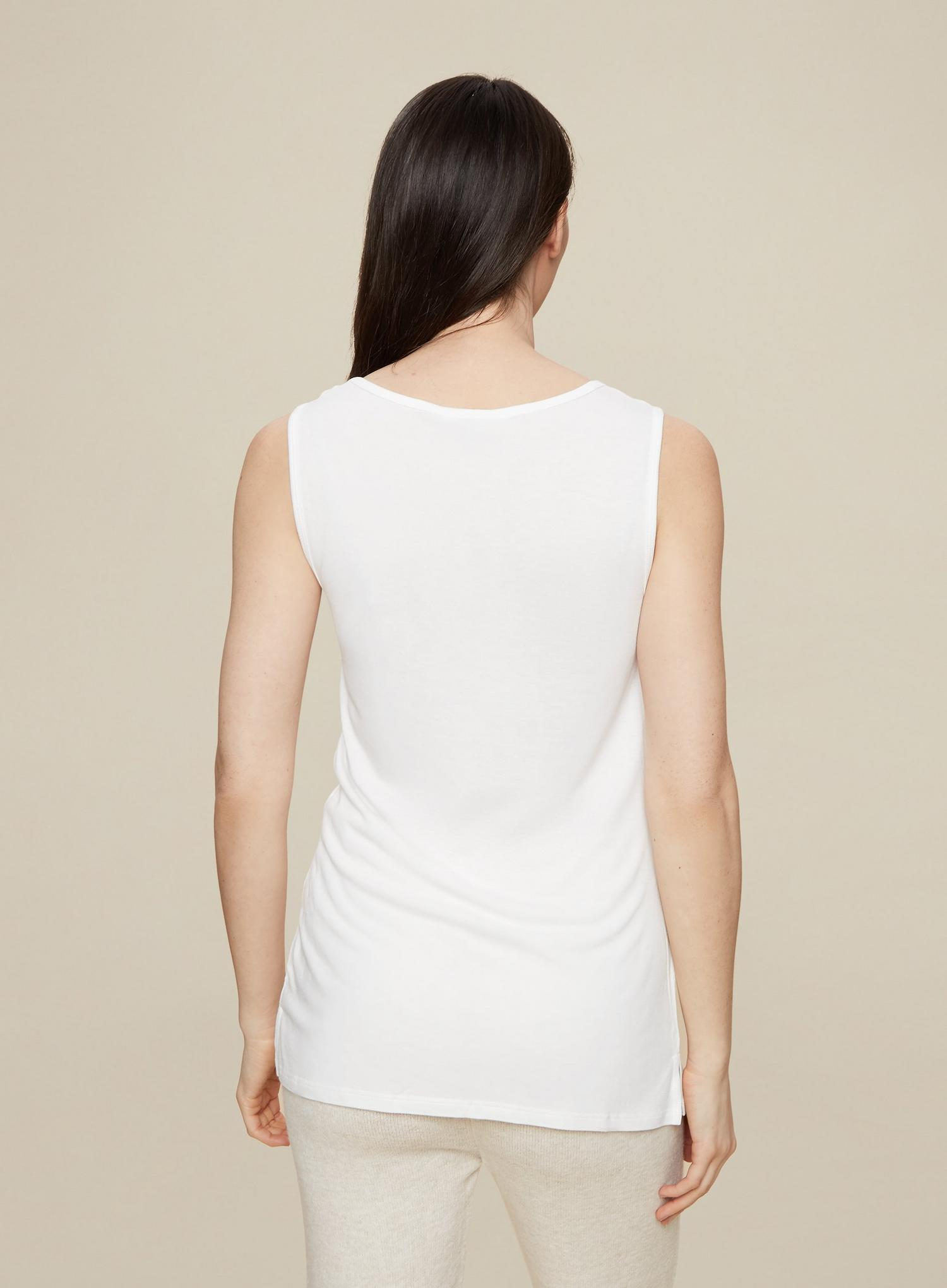 173 Tall White Vest Top image number 3