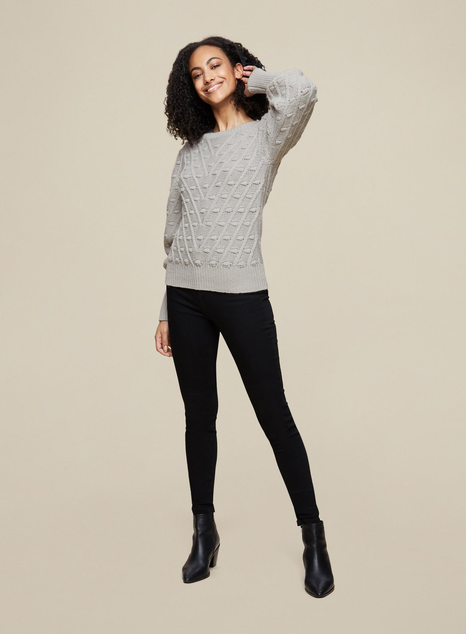 Tall Grey Bobble Jumper