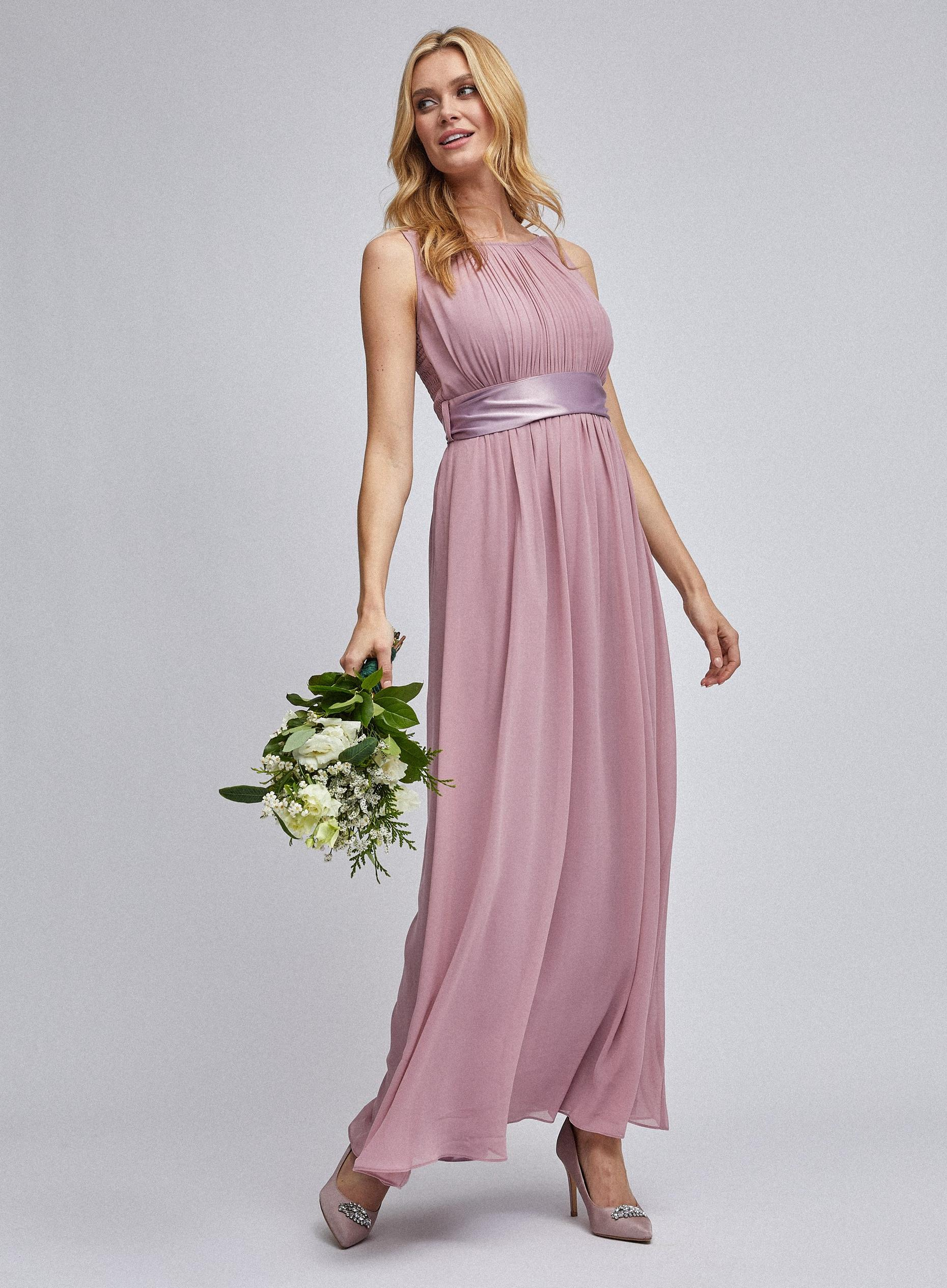 Natalie Dusky Pink Maxi Dress