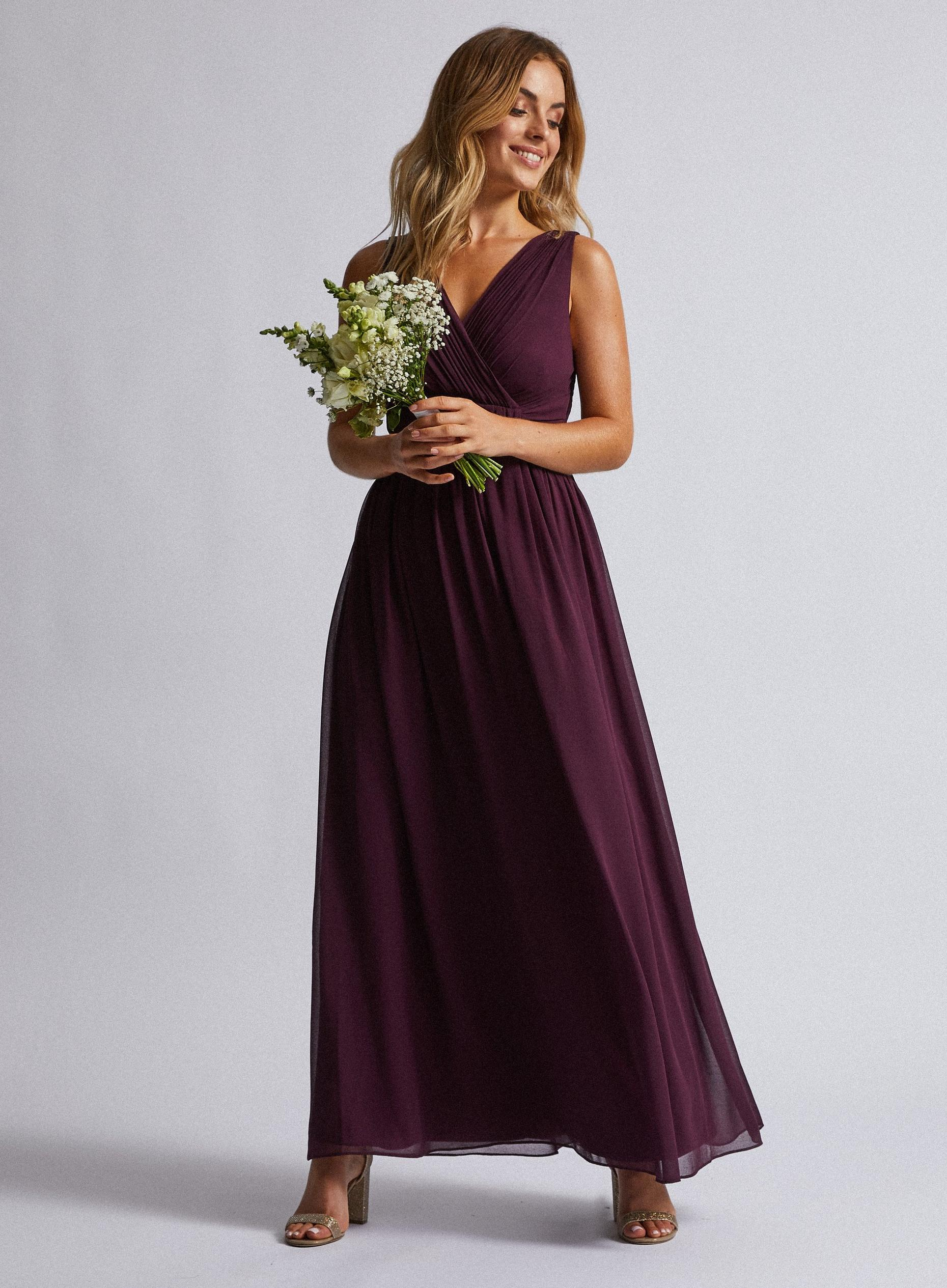 **Showcase Petite Oxblood 'Darcy' Maxi Dress