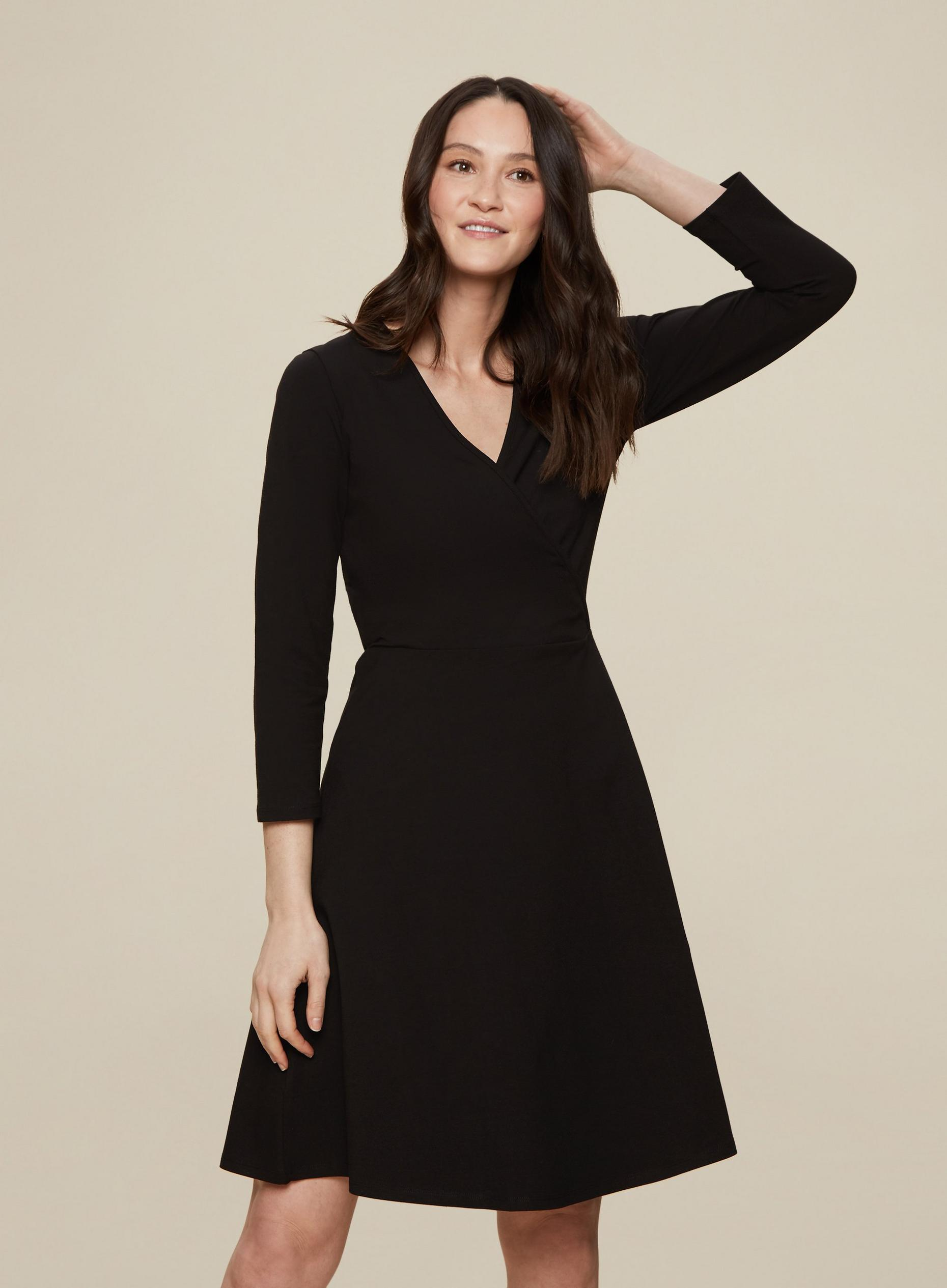 Tall Black Wrap Dress