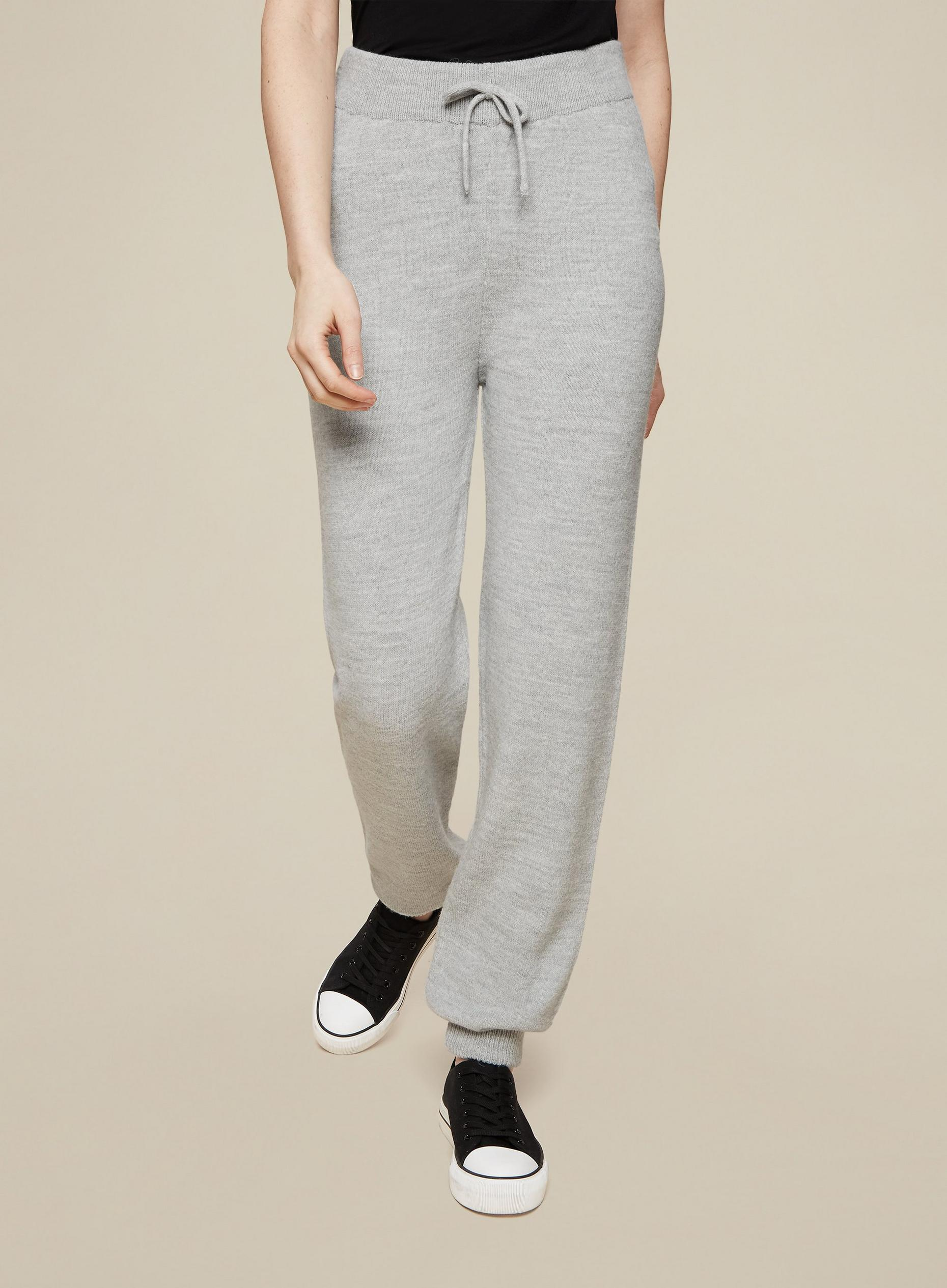 Tall Grey Knitted Joggers