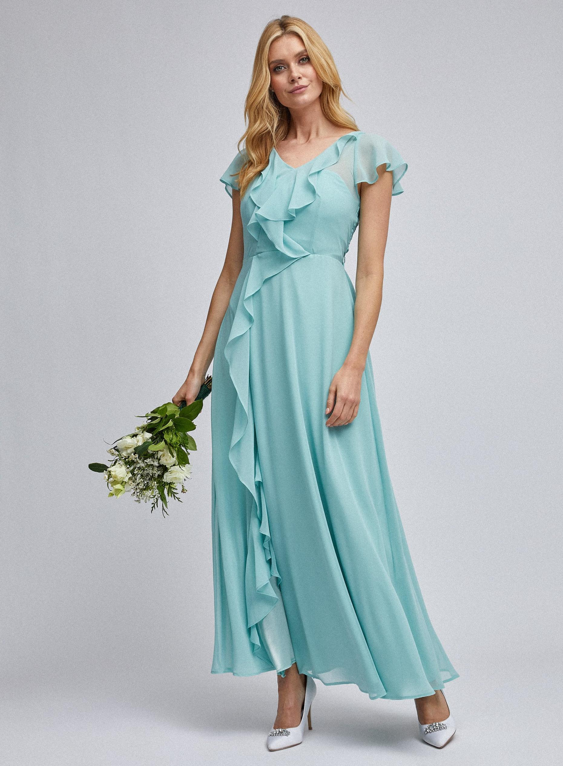 Bridesmiads Thyme Riley Ruffle Maxi Dress