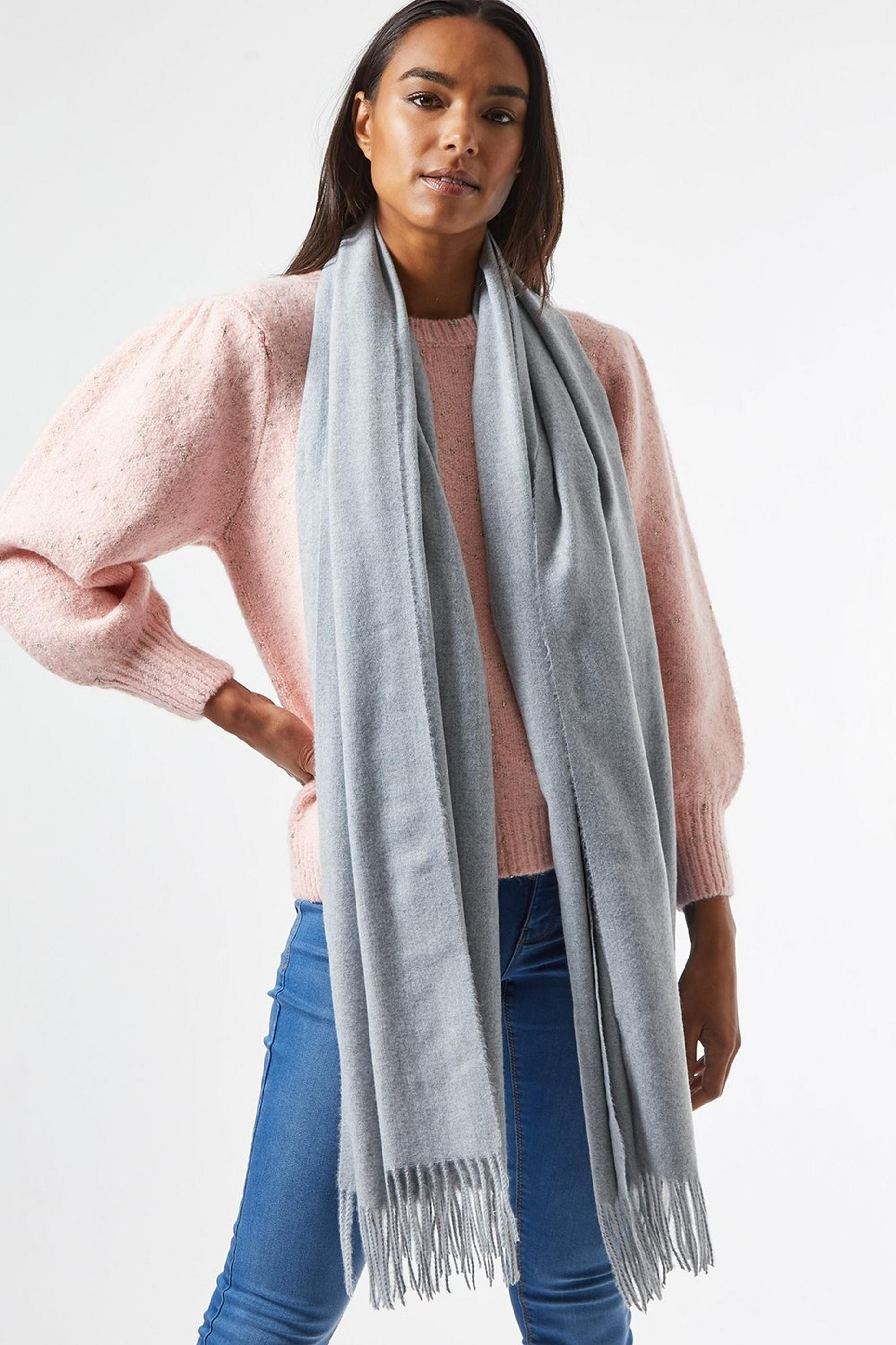 Grey Plain Acrylic Scarf