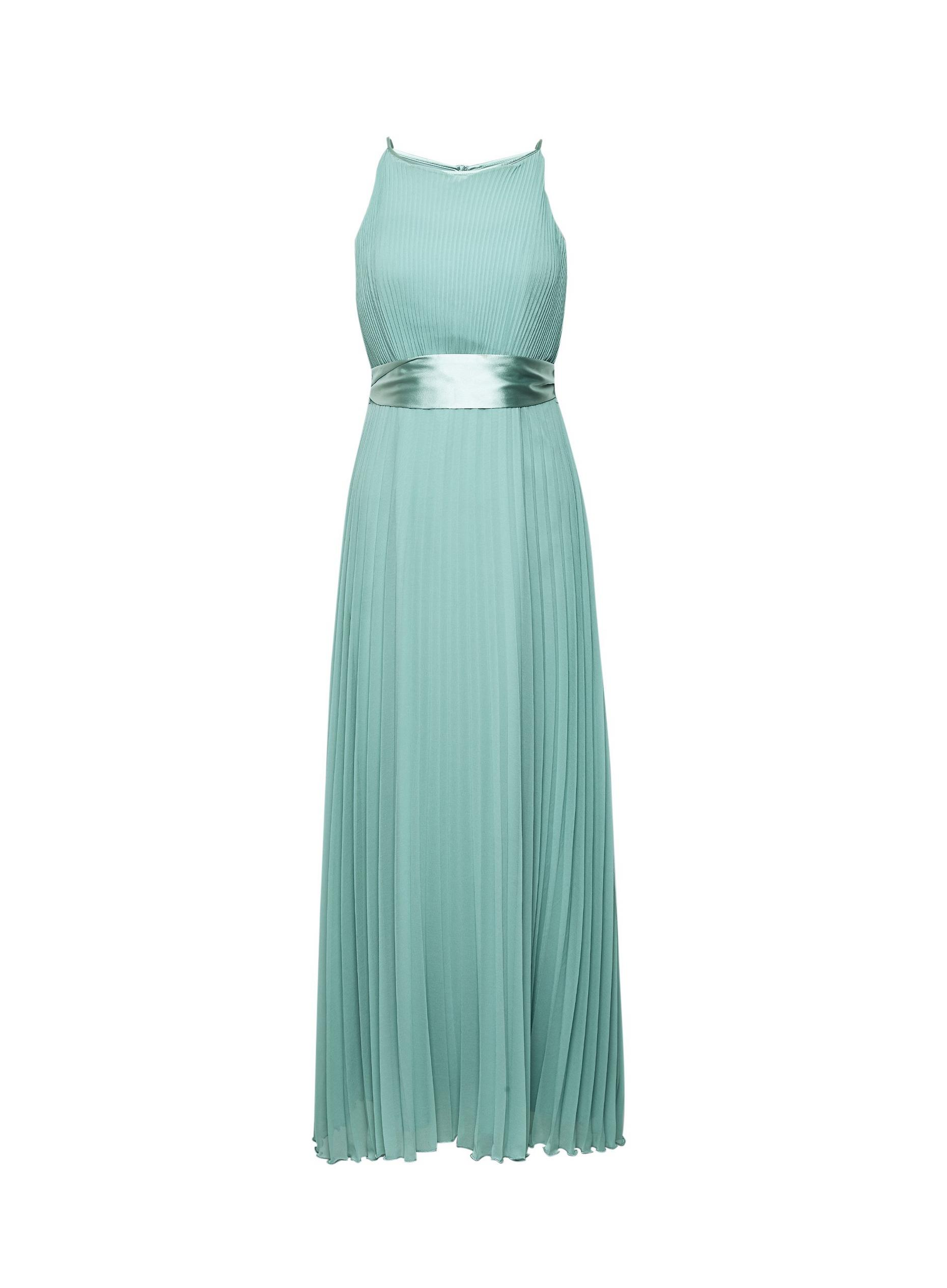 Petite Lucy Thyme Green Pleated Maxi Dress