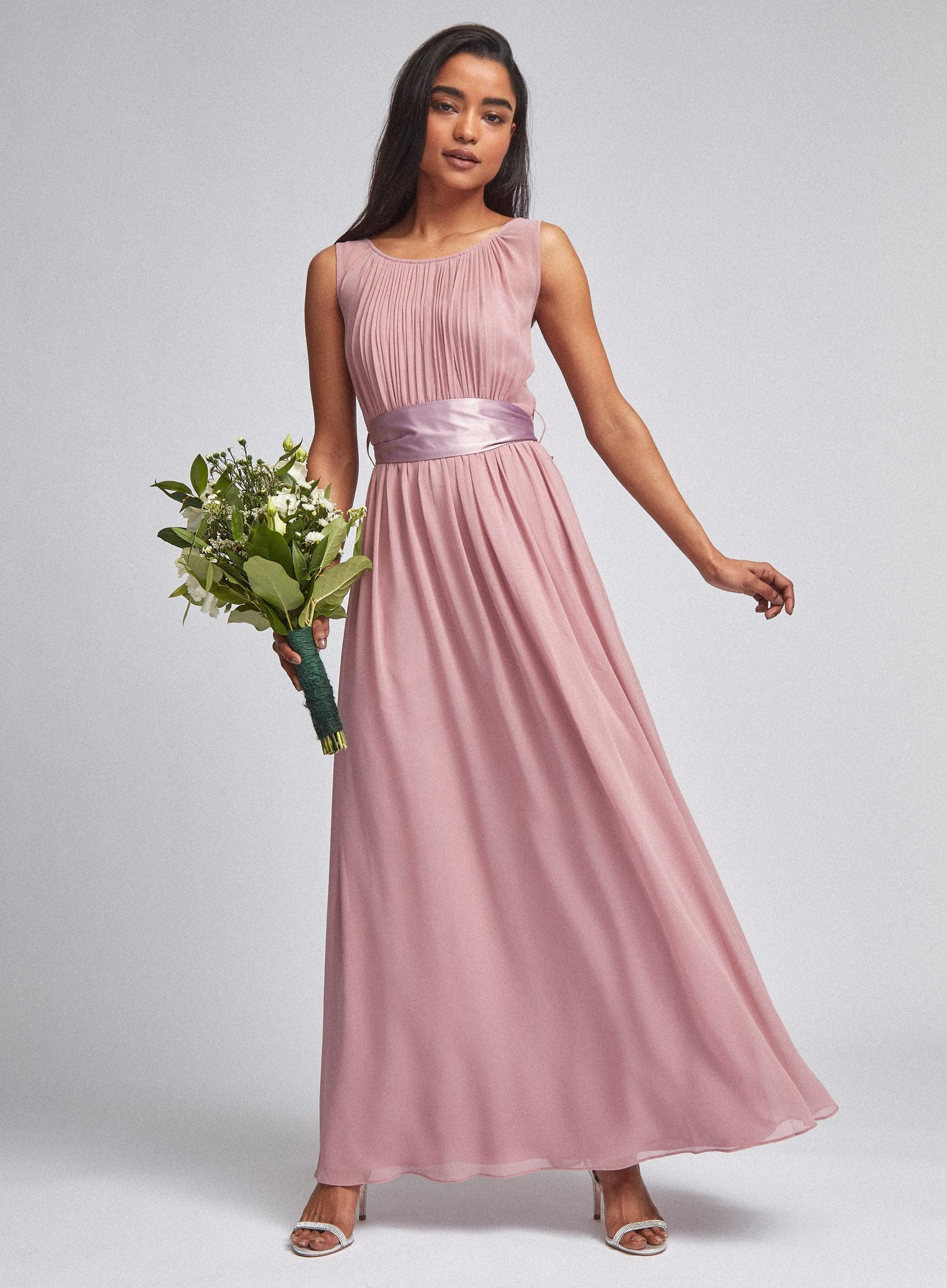 Petite Natalie Rose Pink Maxi Dress
