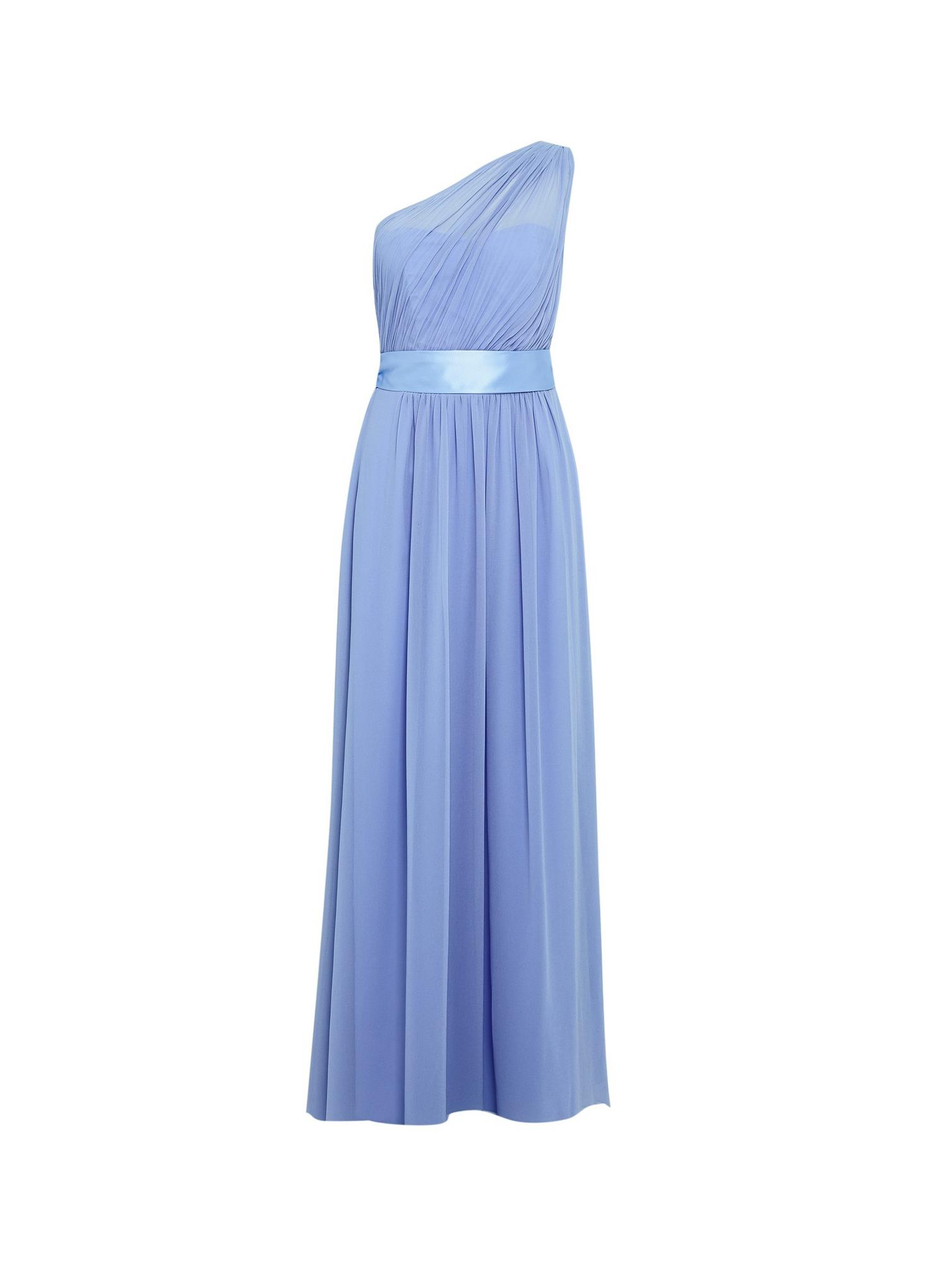 106 Sadie  Blue One Shoulder Maxi Dress image number 4