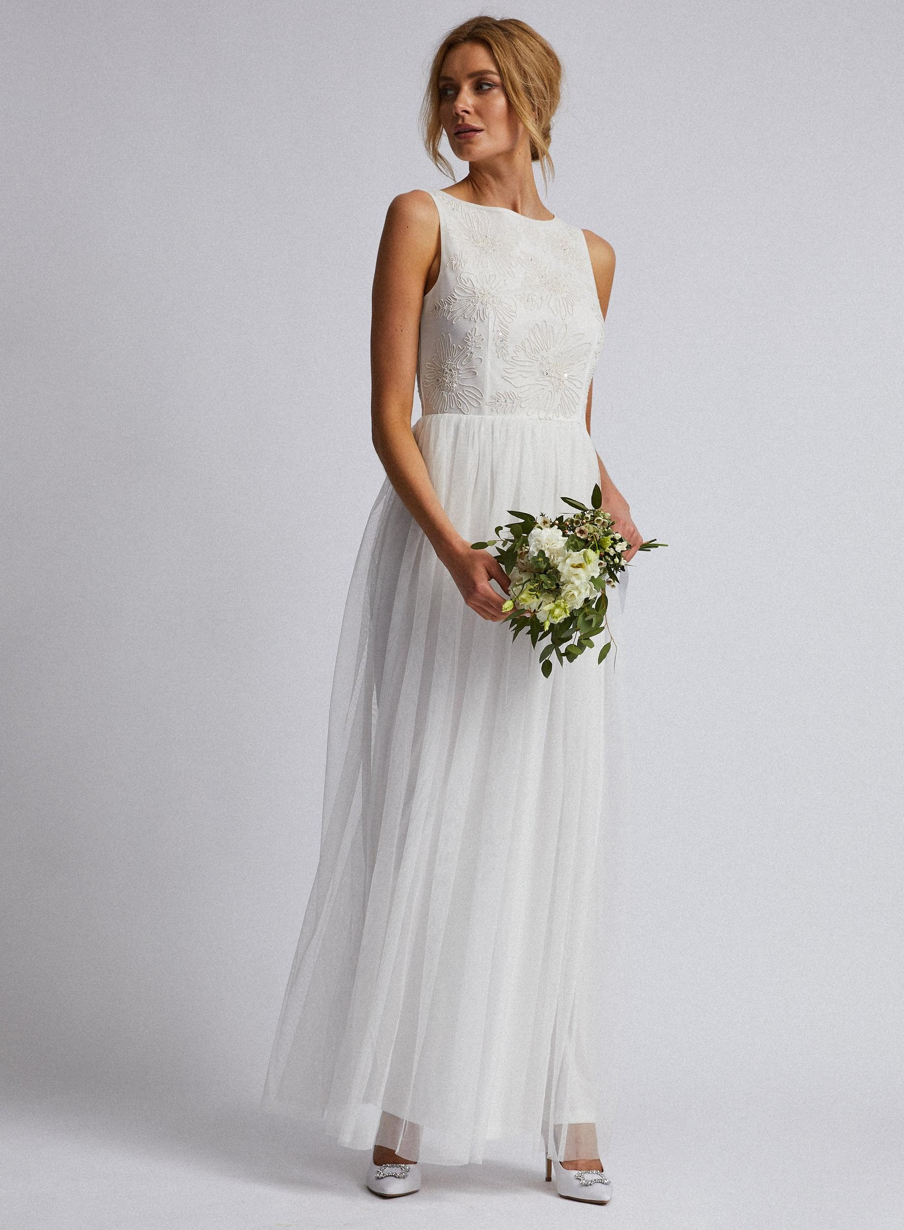 Connie Off White Bridal Maxi Dress