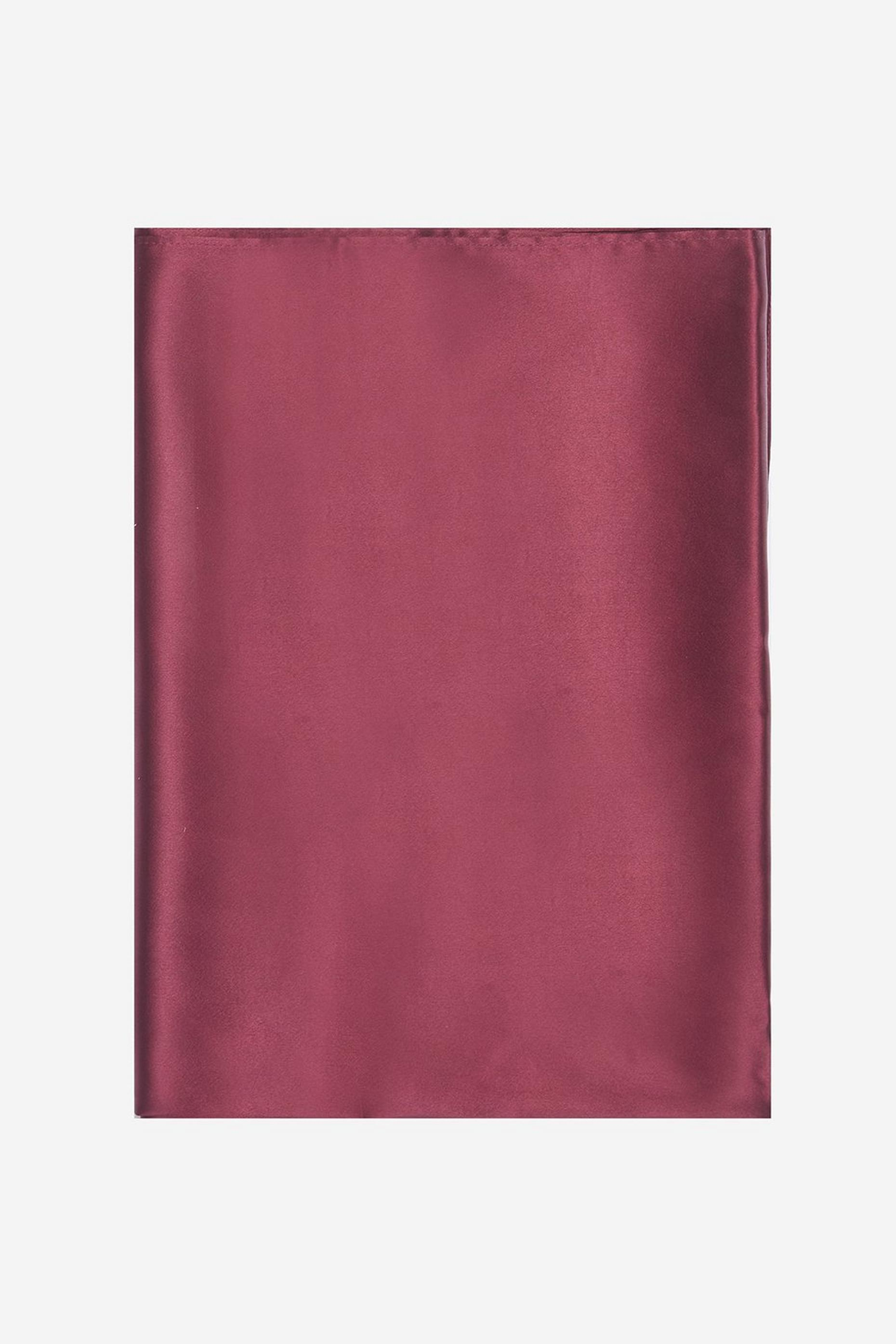 Burgundy Satin Wrap Cover Up