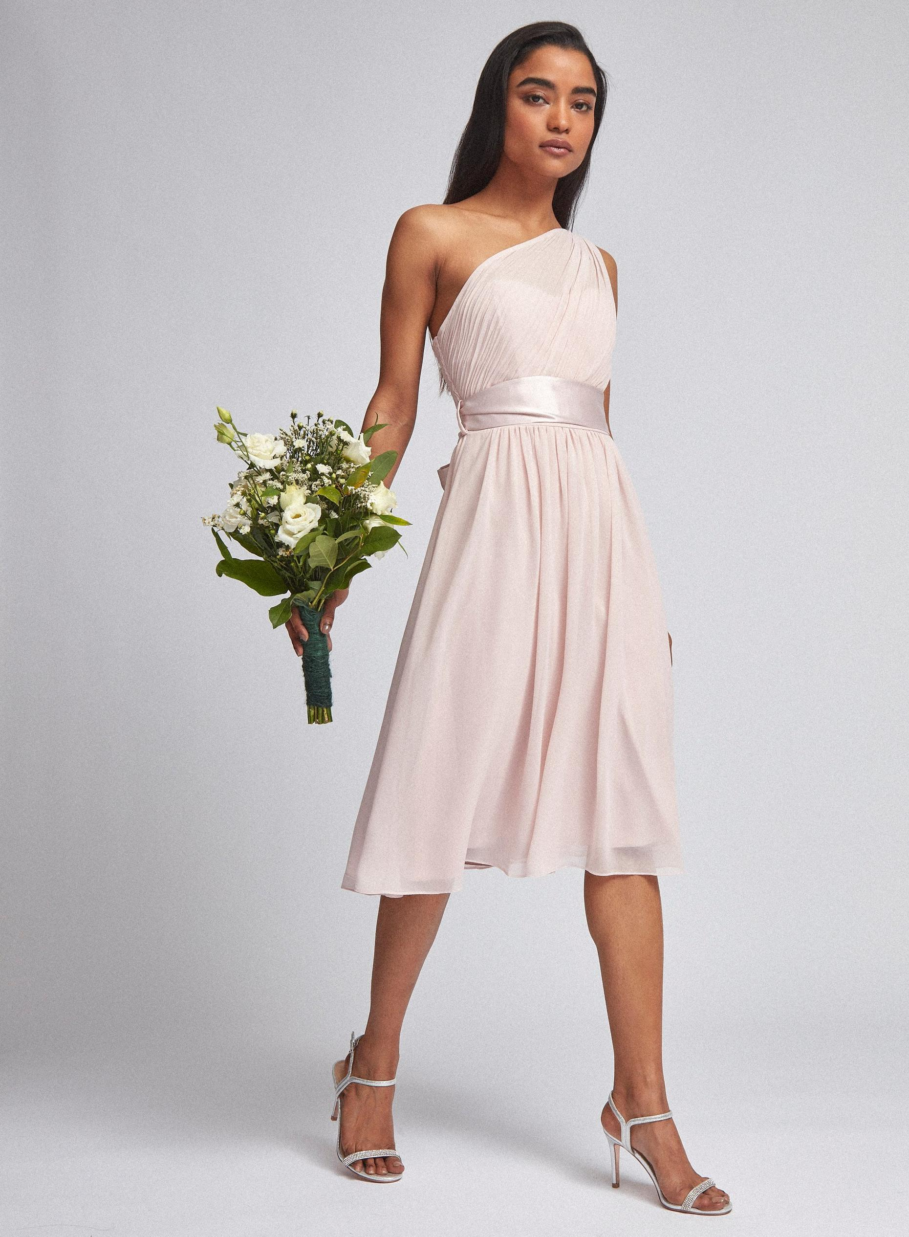 Petite Blush Jenni Midi Dress