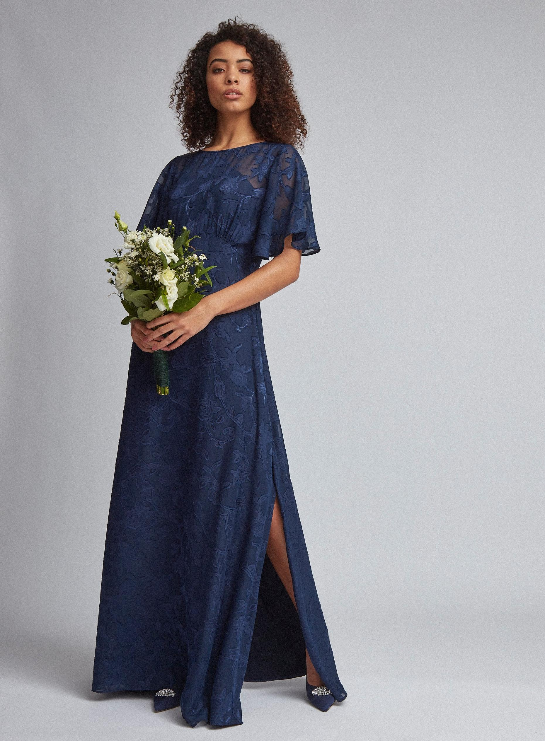 Tall Navy Floral Amara Maxi Dress