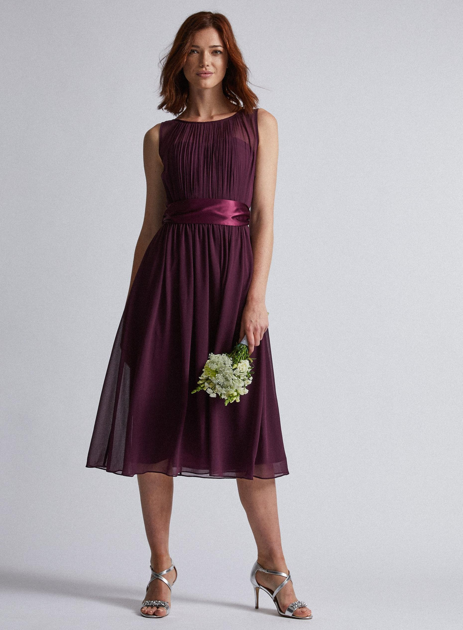 Tall Bethany Merlot Midi Dress