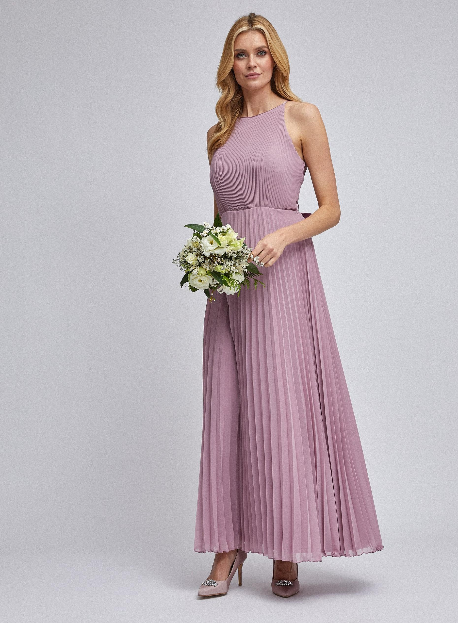 Lucy Rose Pink Pleated Maxi Dress