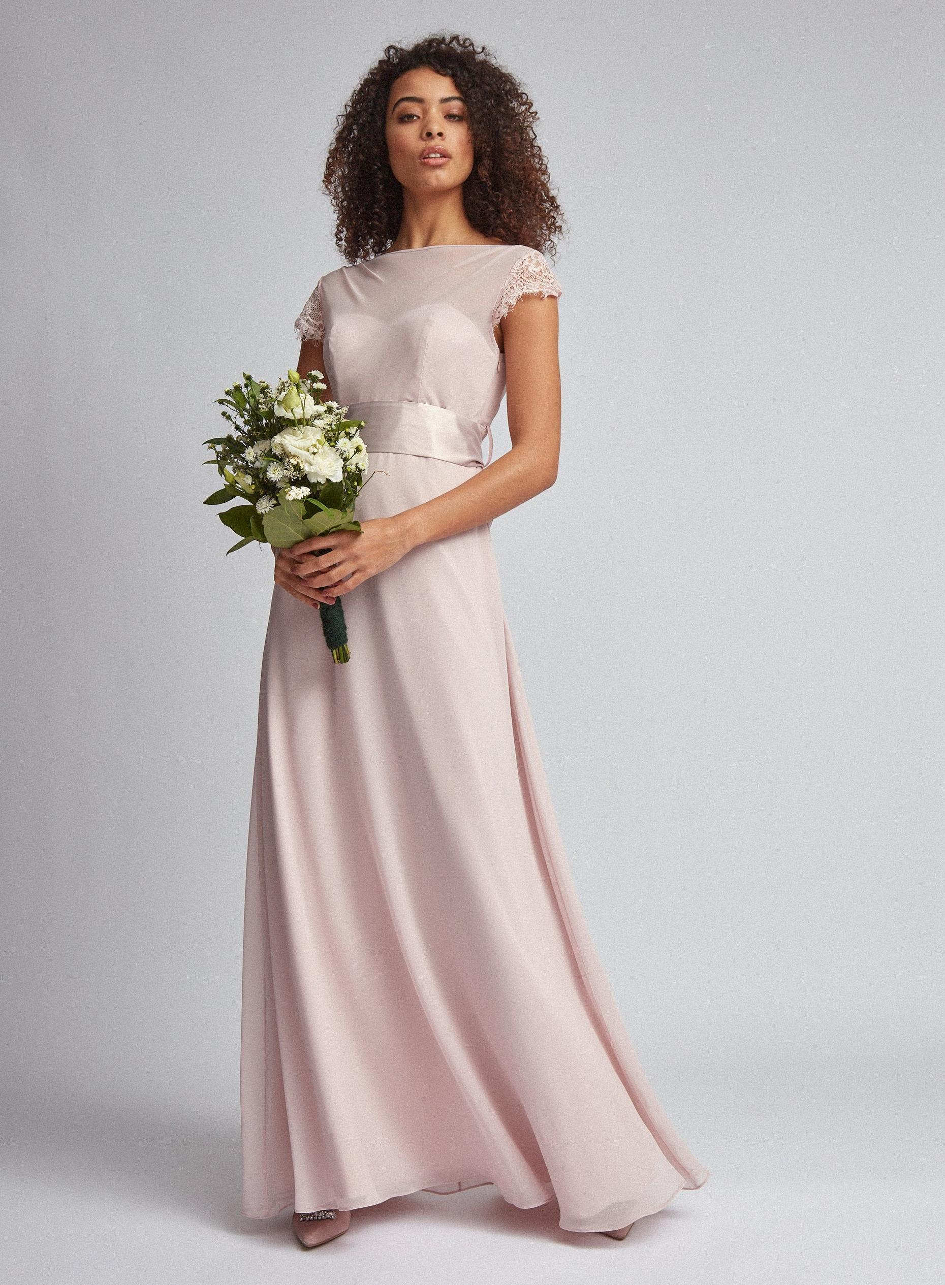 Tall Clair Blush Cowl Back Maxi Dress