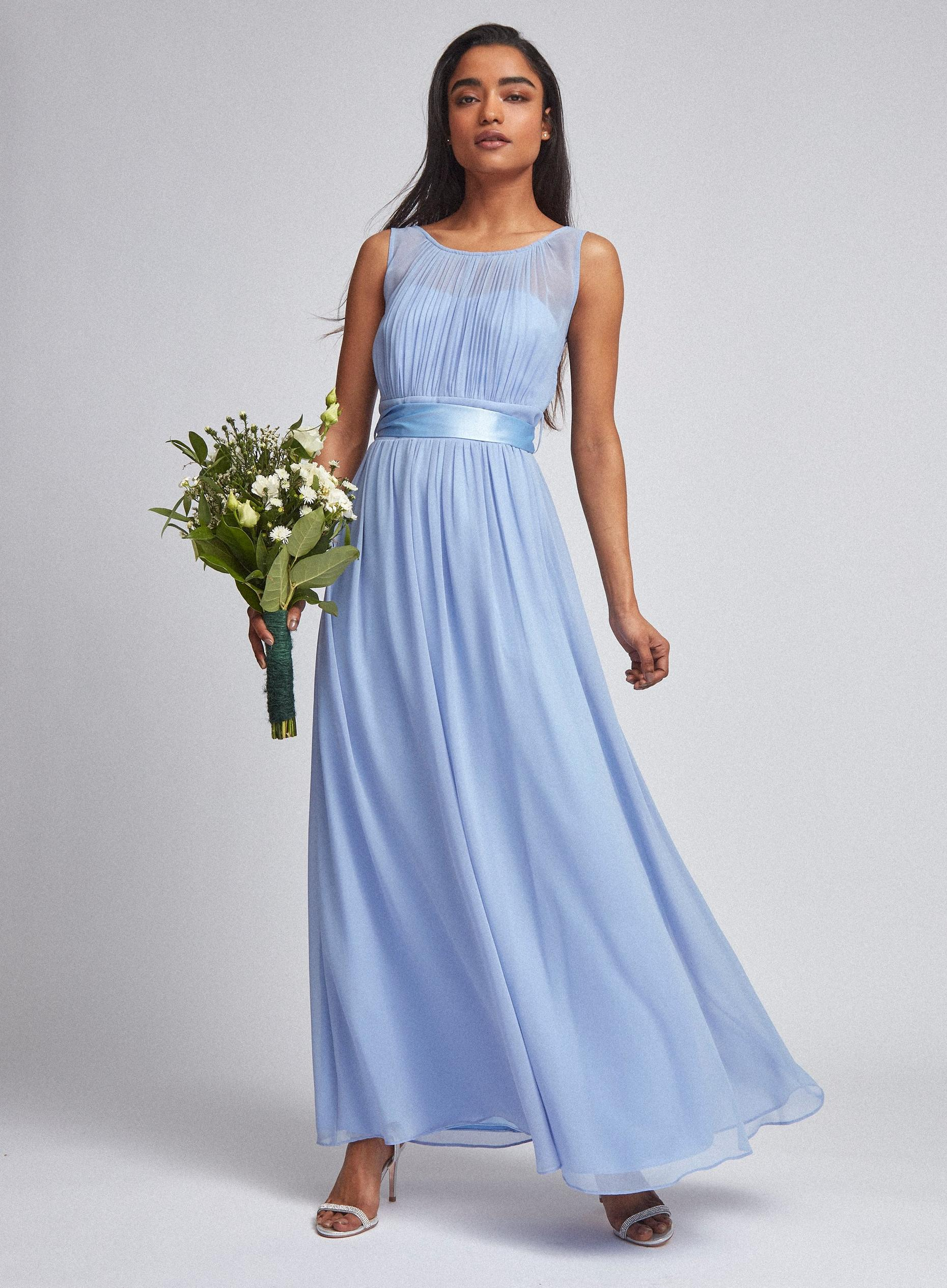 Petite Blue Natalie Maxi Dress