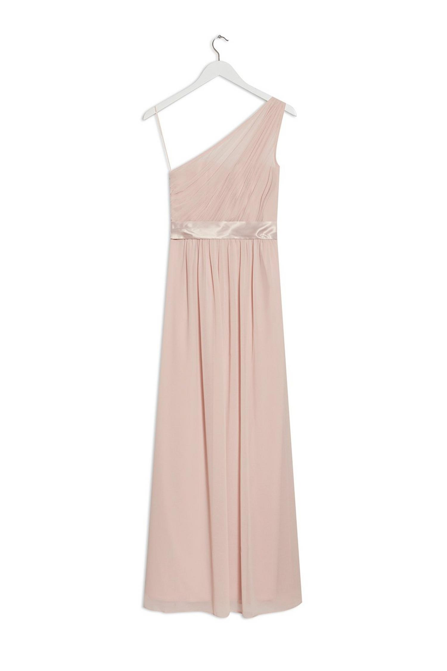 153 Blush Sadie One Shoulder Maxi Dress image number 1