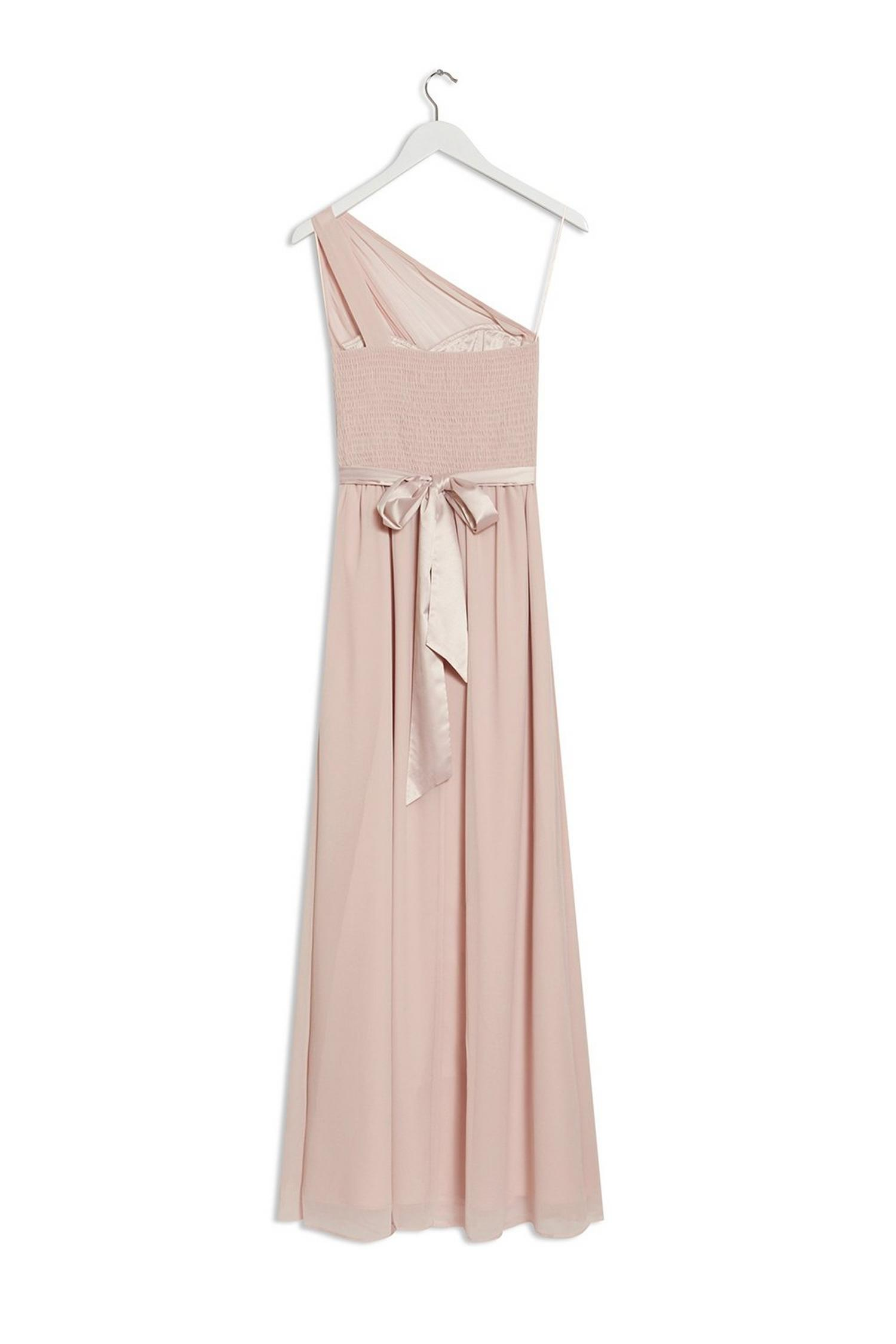 153 Blush Sadie One Shoulder Maxi Dress image number 2