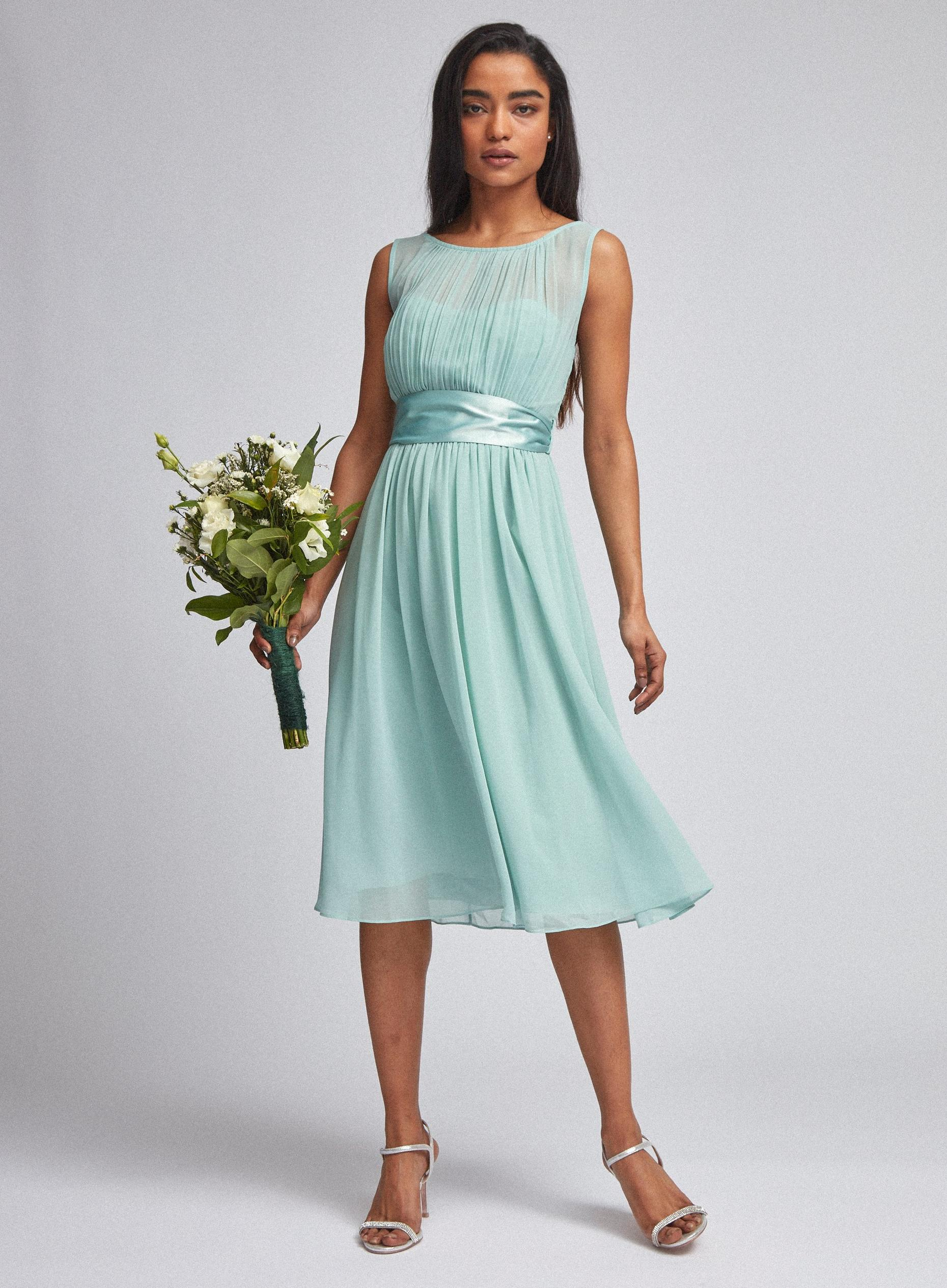 Petite Green Bethany Midi Bridesmaid Dress