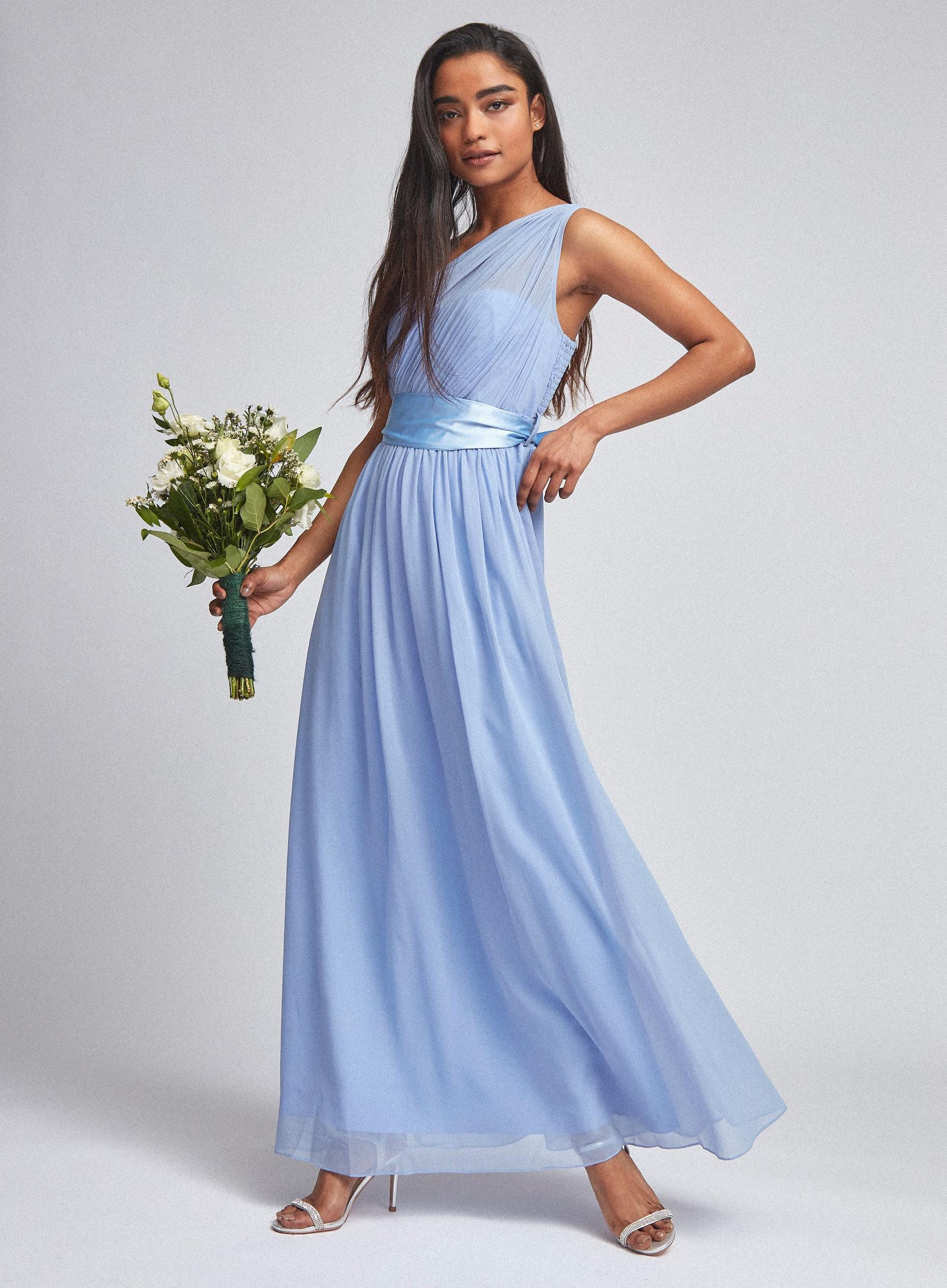 Showcase Petite Blue Sadie Maxi Dress