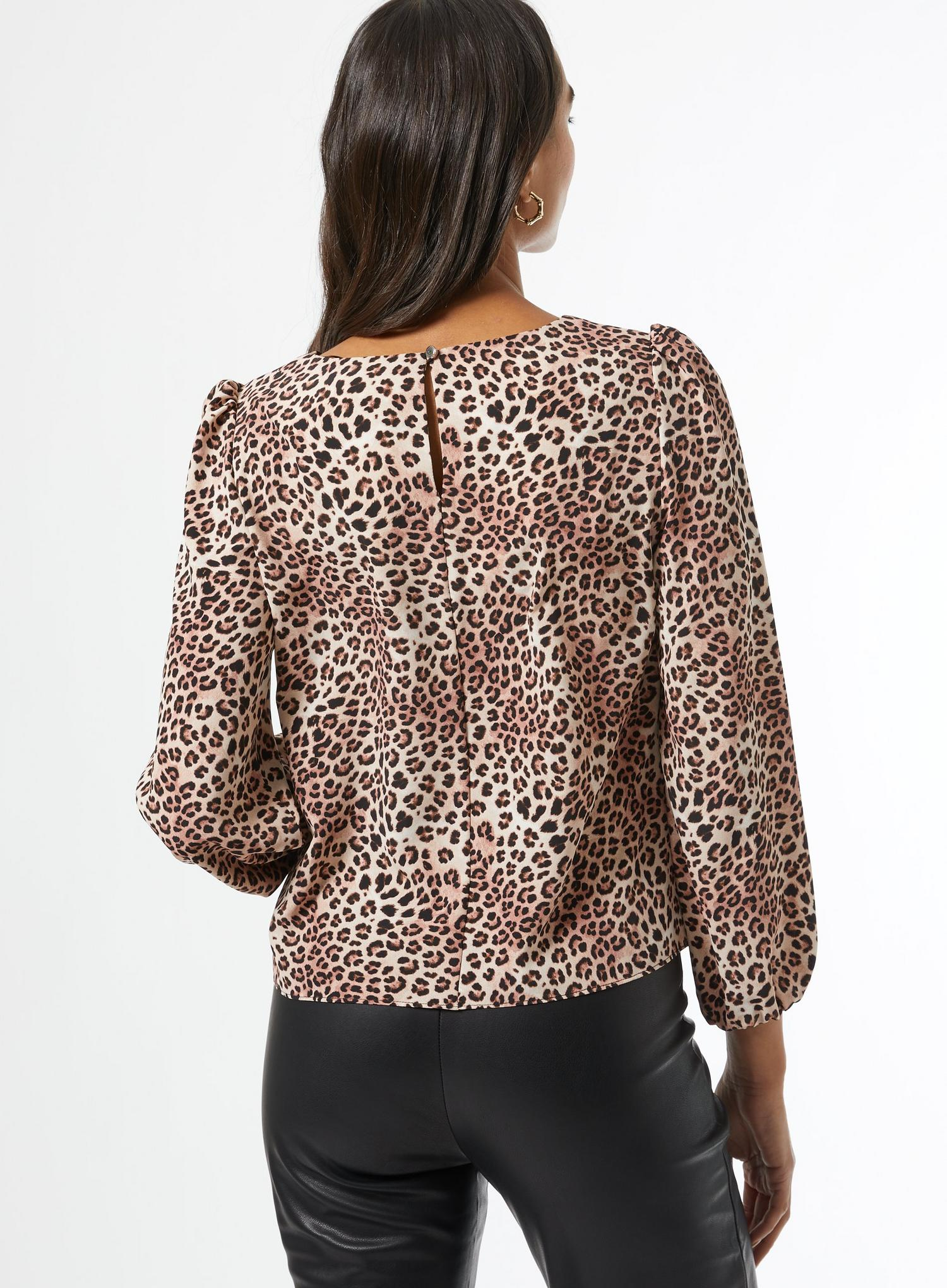 123 White Leopard Print Blouse image number 2