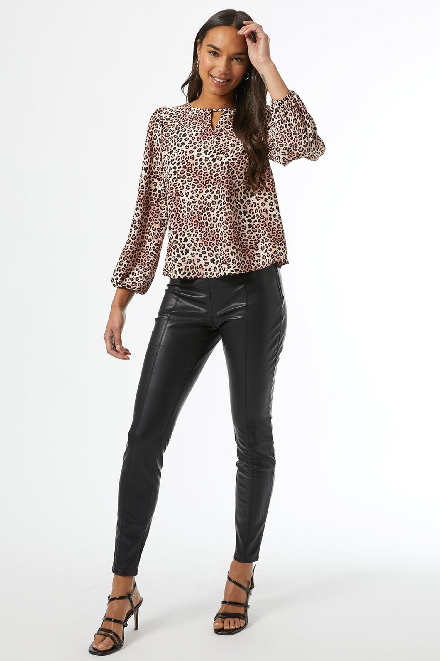 123 White Leopard Print Blouse image number 3