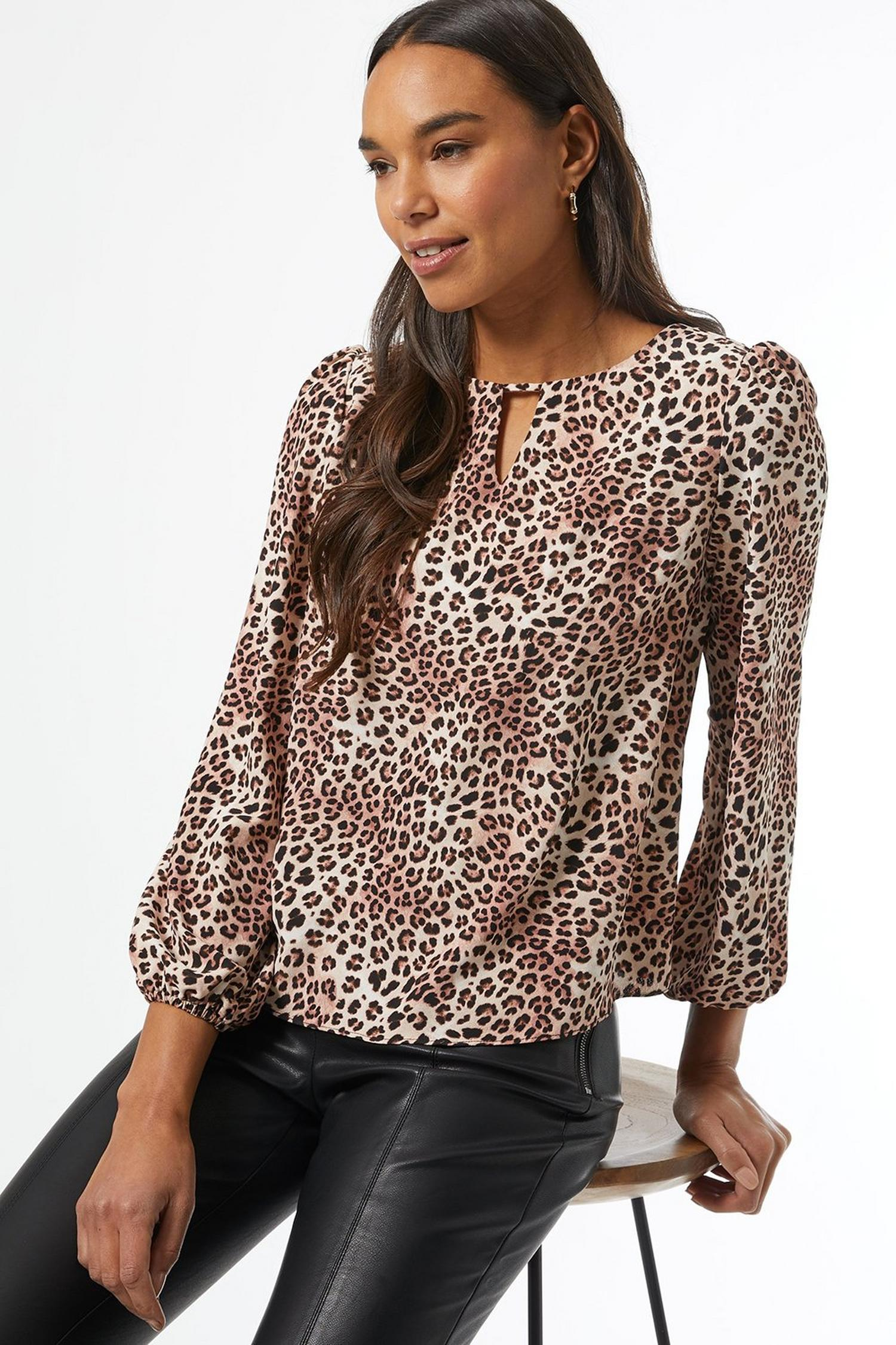 123 White Leopard Print Blouse image number 4